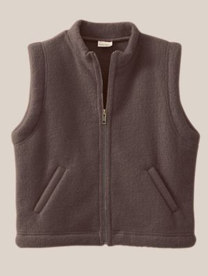 Organic Wool Fleece Vest