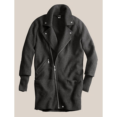 Boiled Wool Motorcycle Coat