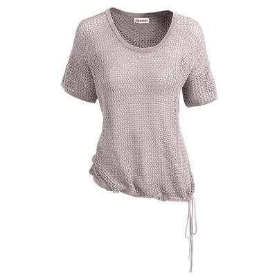 Organic Cotton Mesh Sweater