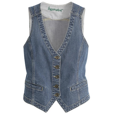 Organic Cotton Denim Vest