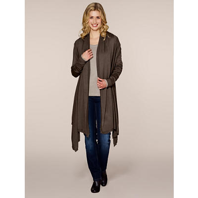 Silk/Cotton/Cashmere Long Cardigan