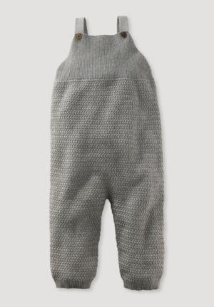 Strampler aus Bio-Baumwolle mit Kaschmir