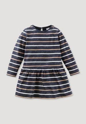 Ringel-Kleid aus reiner Bio-Baumwolle