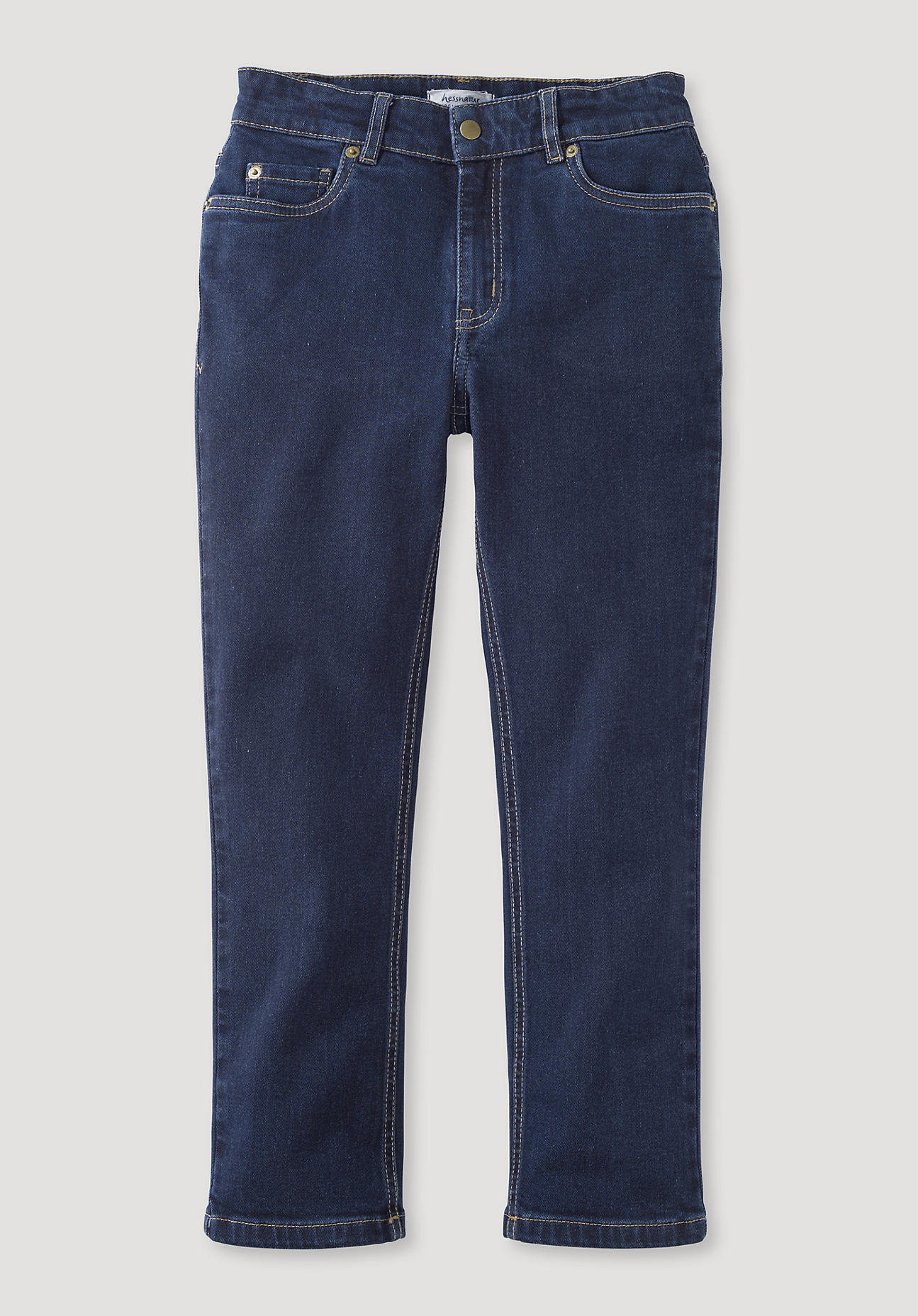 hessnatur Kinder 5-Pocket-Jeans Betterecycling aus Bio-Baumwolle - blau Größe 134