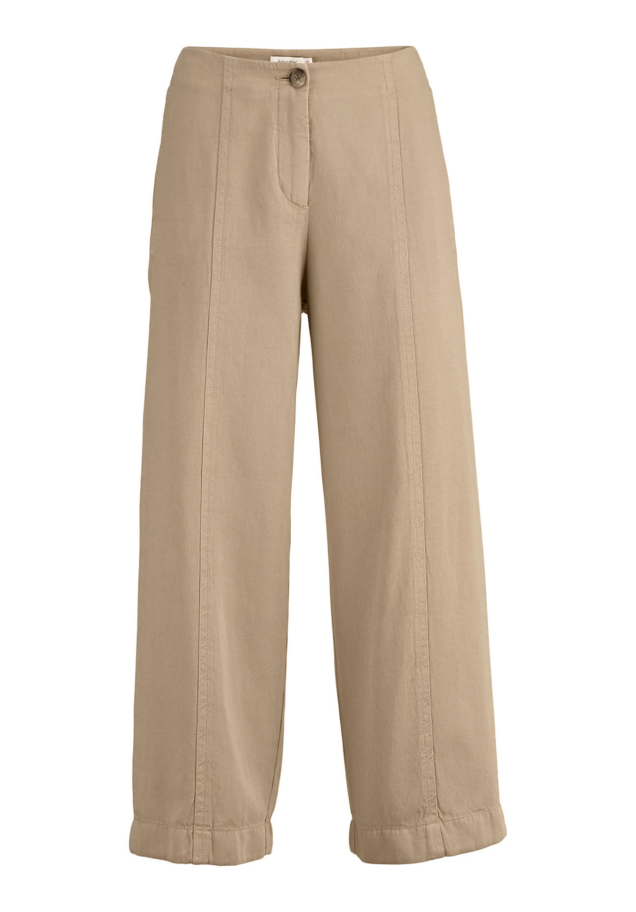 Hosen - hessnatur Damen 7 8 Hose aus Bio Baumwolle mit Leinen – beige –  - Onlineshop Hessnatur