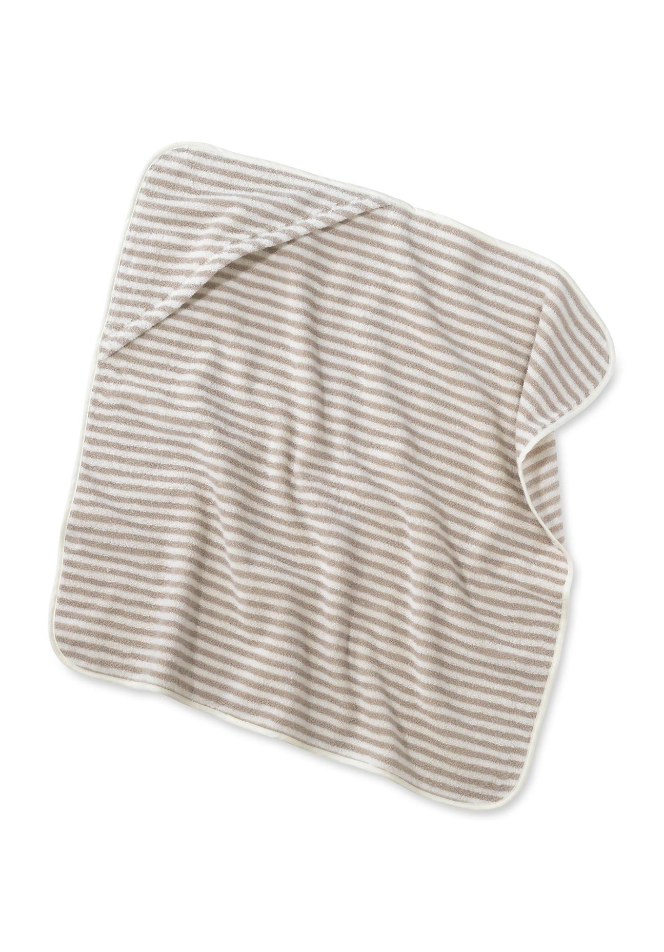 Image of hessnatur Baby Badetuch aus Bio-Baumwolle – beige – Größe 80x80 cm