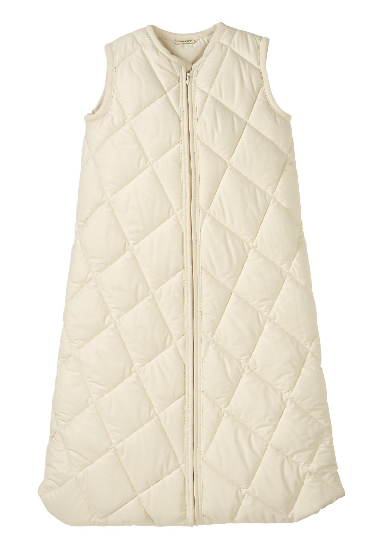 hessnatur Baby Satin-Schlafsack aus Bio-Baumwolle – natur – Größe 070 cm