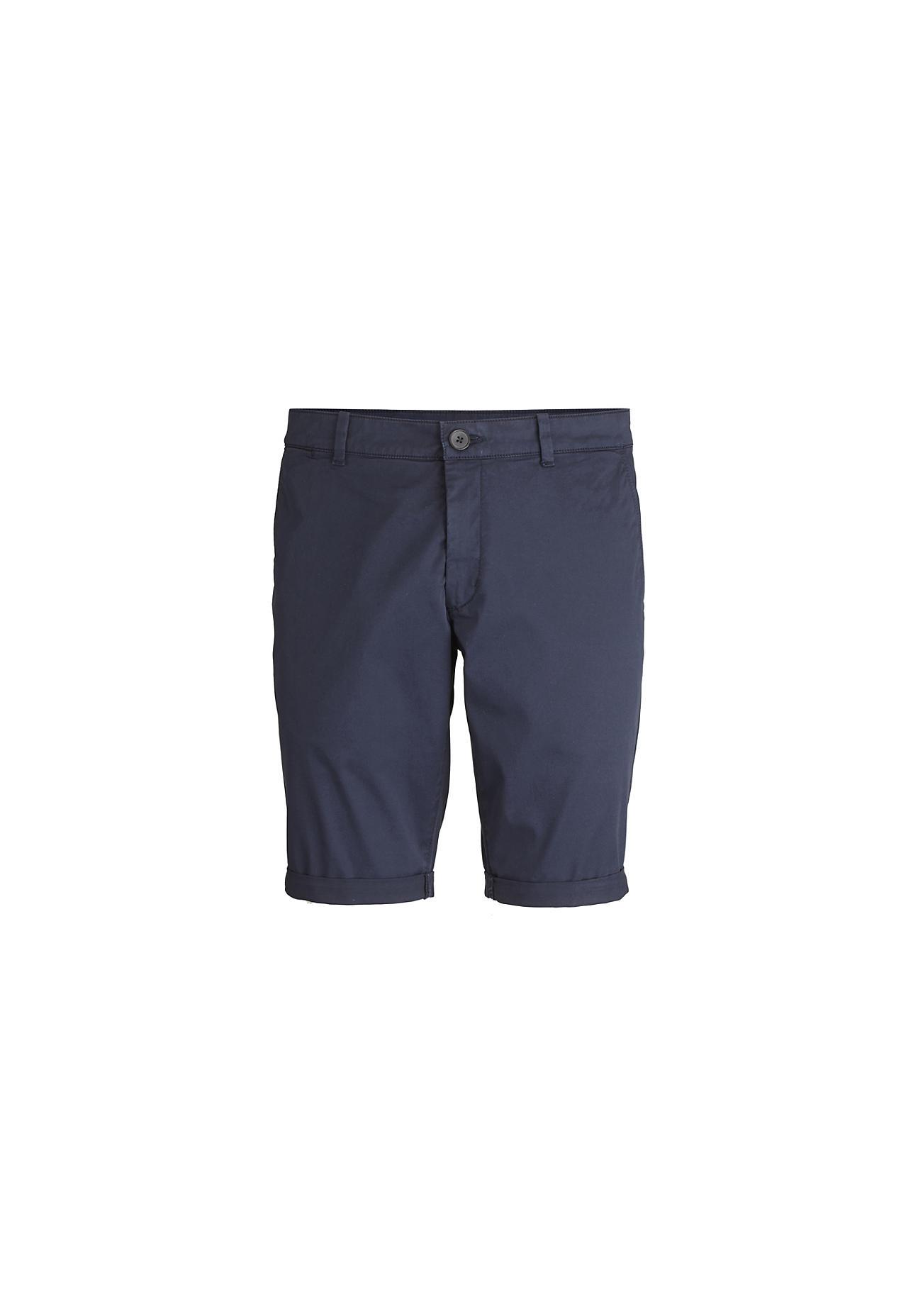 hessnatur Herren Bermuda aus Bio-Baumwolle – blau – Größe 46