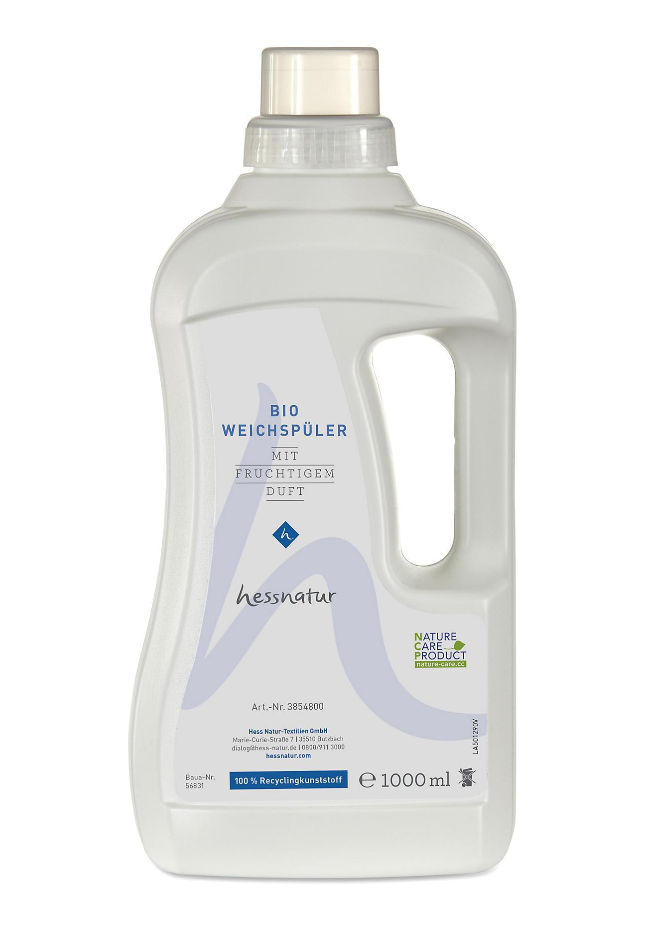 hessnatur Bio-Weichspüler – farblos – Größe 1l