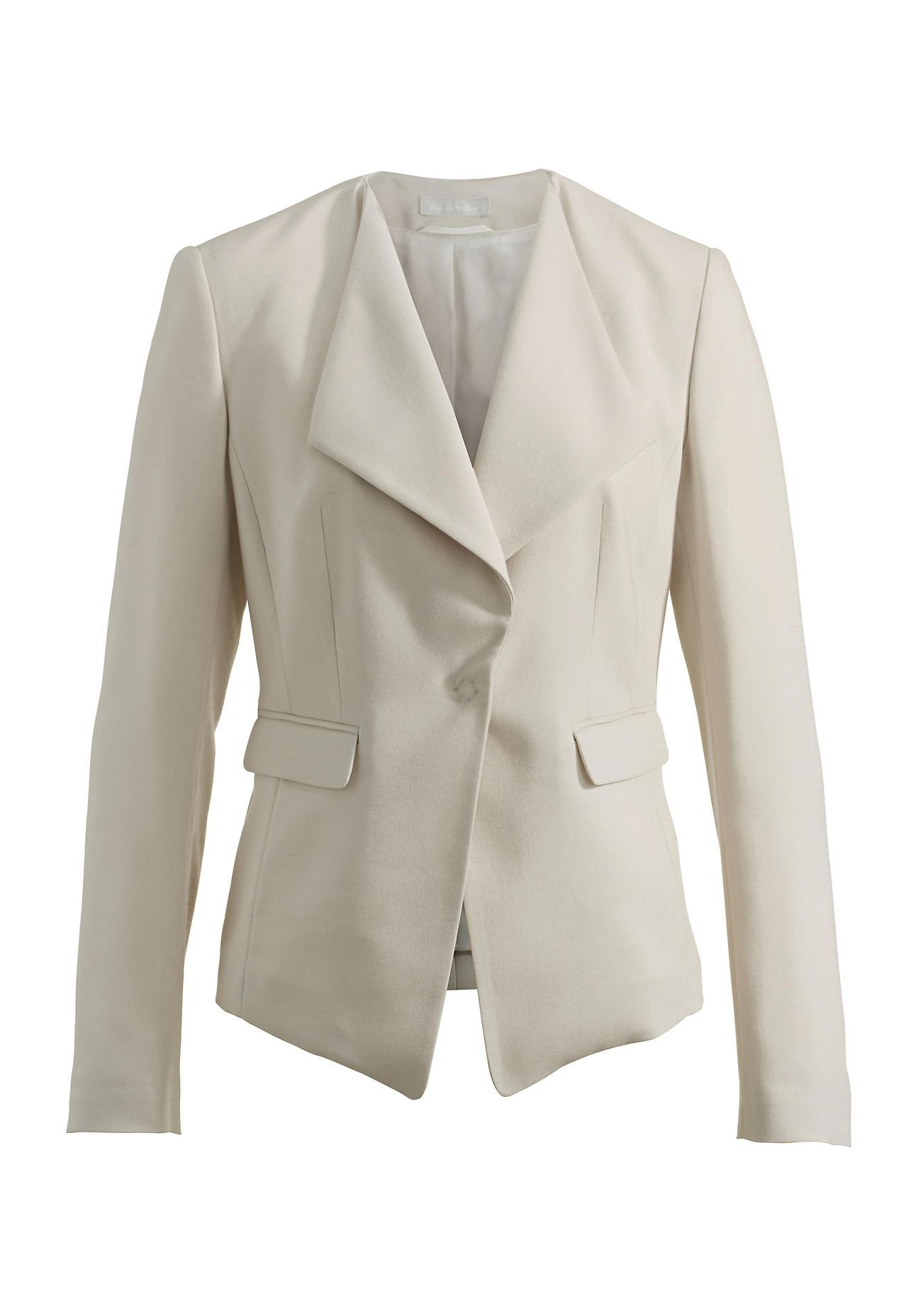 Jacken für Frauen - hessnatur Damen Blazer aus Modal mit Schurwolle – beige –  - Onlineshop Hessnatur