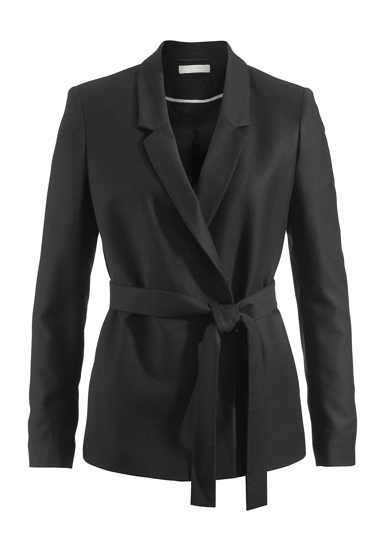 hessnatur damen blazer aus schurwolle schwarz gr e 46 outlet blazer blusen tuniken. Black Bedroom Furniture Sets. Home Design Ideas