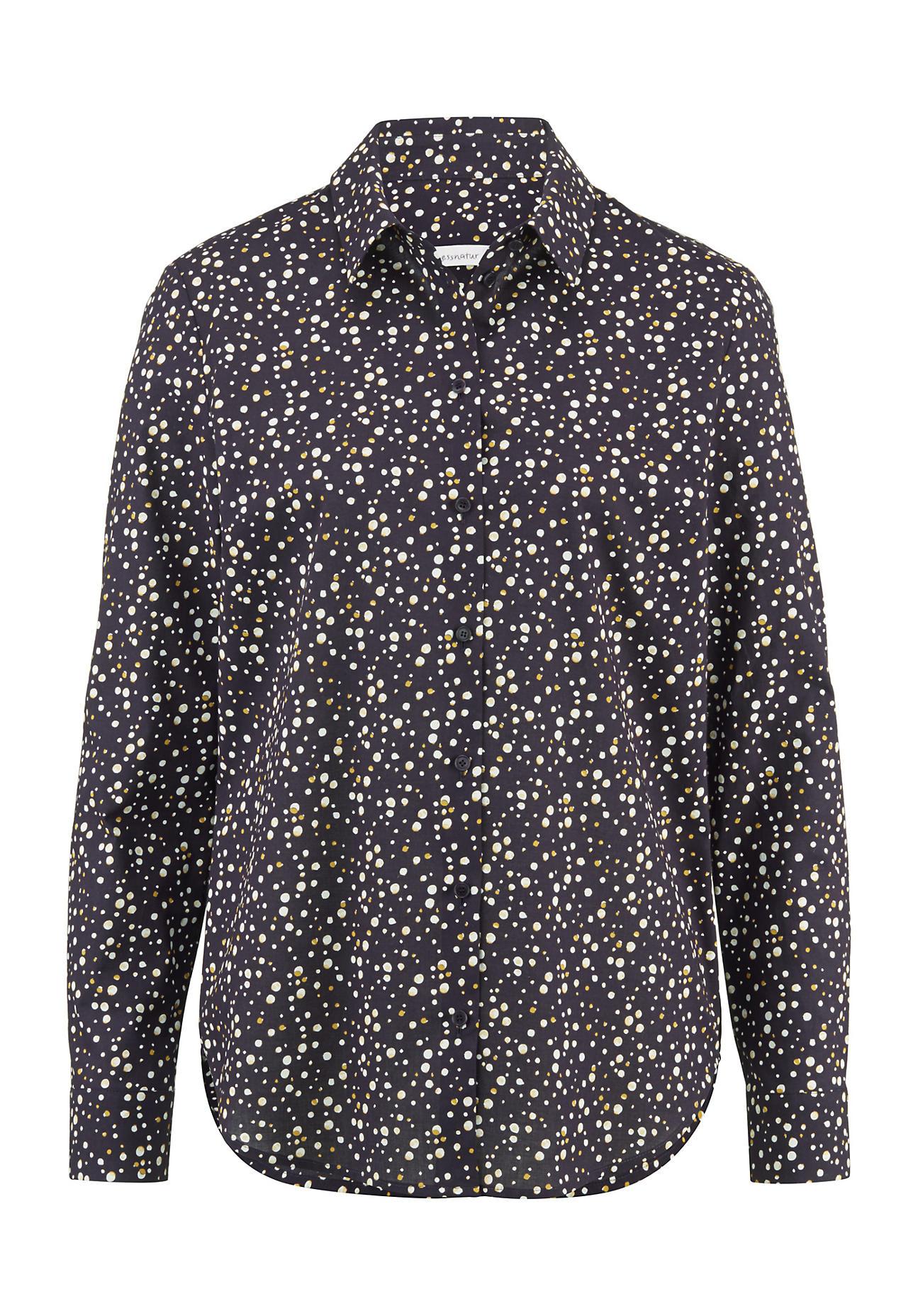 hessnatur -  Damen Bluse aus Bio-Baumwolle – lila – Größe 48
