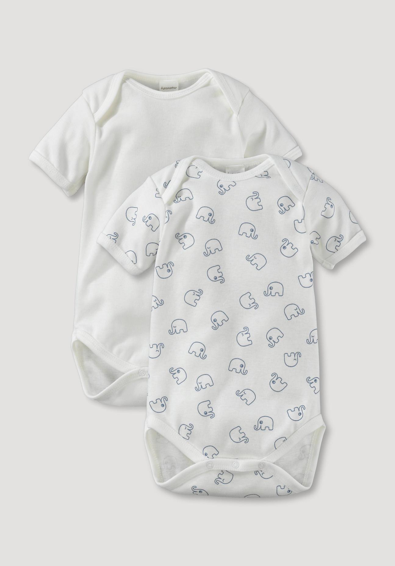 hessnatur Baby Body 2er-Set aus Bio-Baumwolle - bunt Größe 62/68