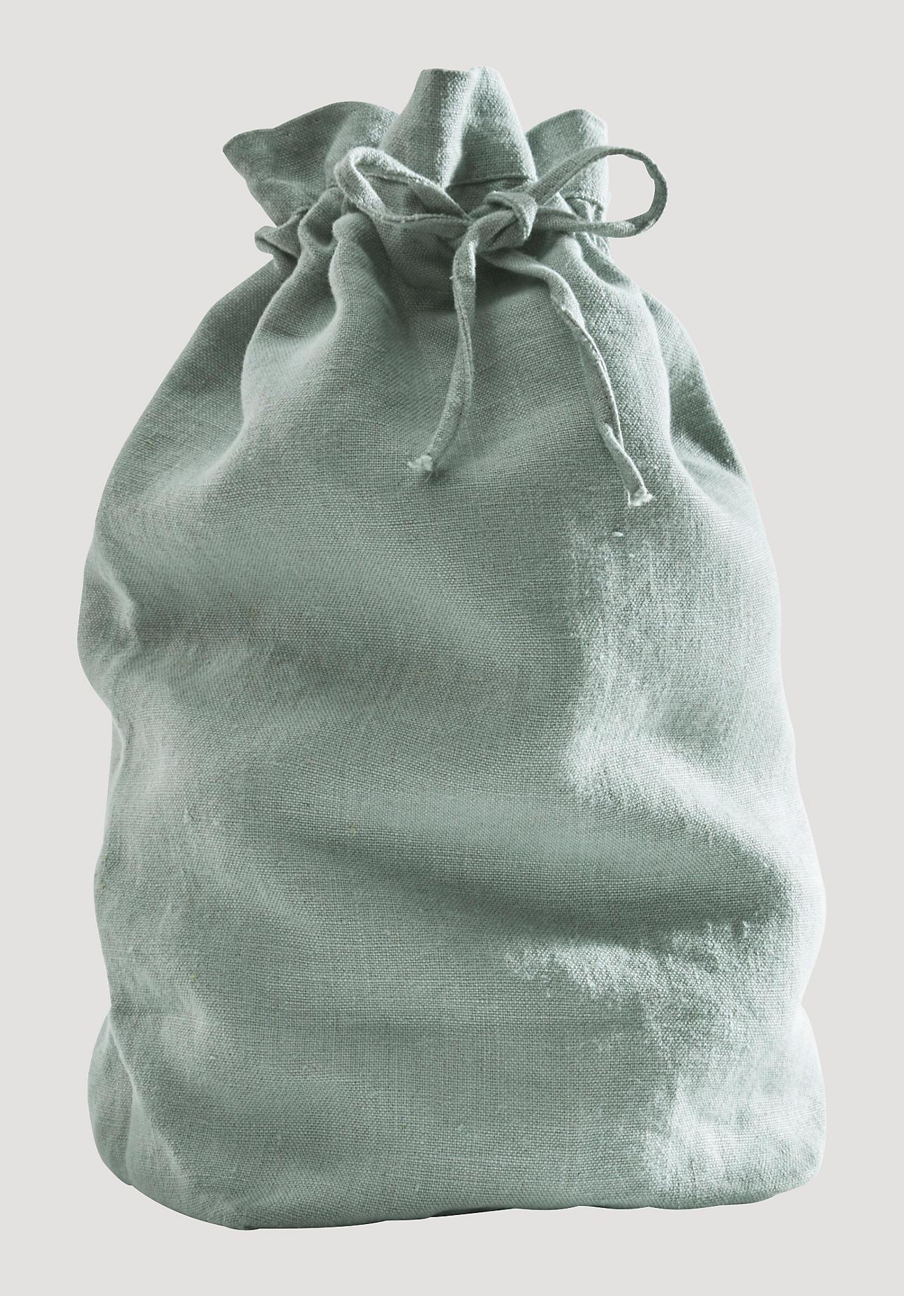 hessnatur Brotbeutel aus Leinen – grün – Größe 33x42,5 cm
