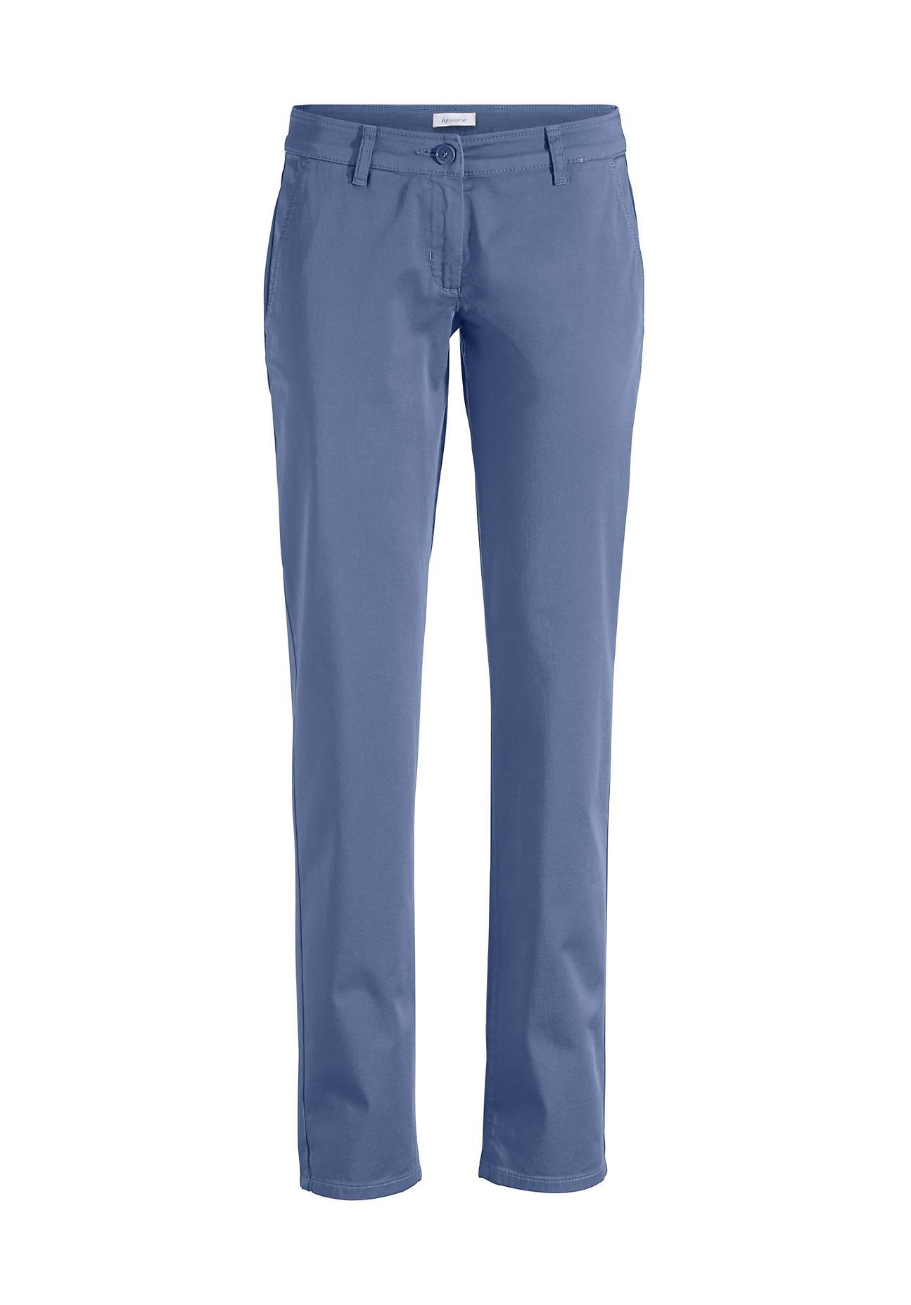 hessnatur Damen Chino aus Bio Baumwolle – blau – Größe 38