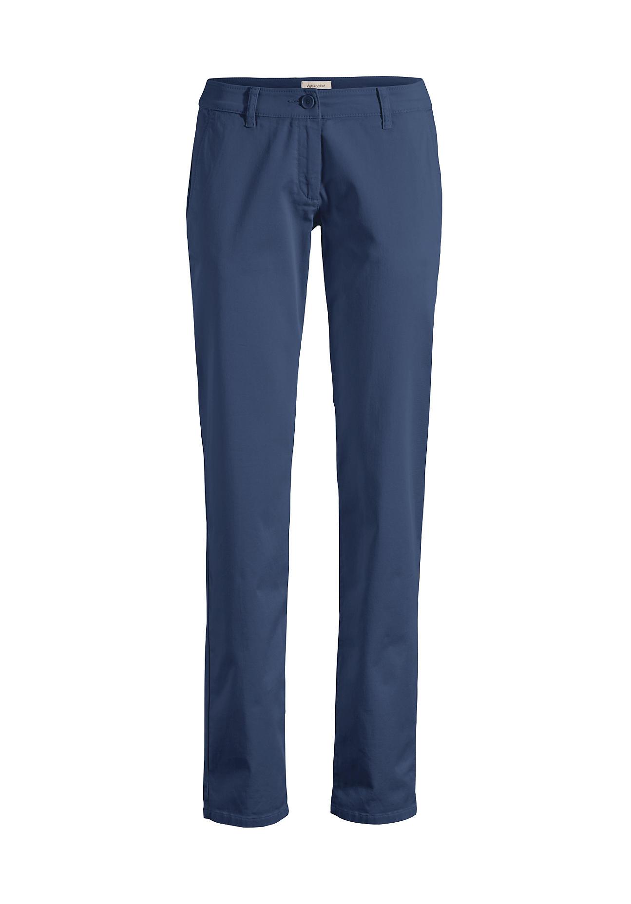 Hosen für Frauen - hessnatur Damen Chino aus Bio Baumwolle – blau –  - Onlineshop Hessnatur