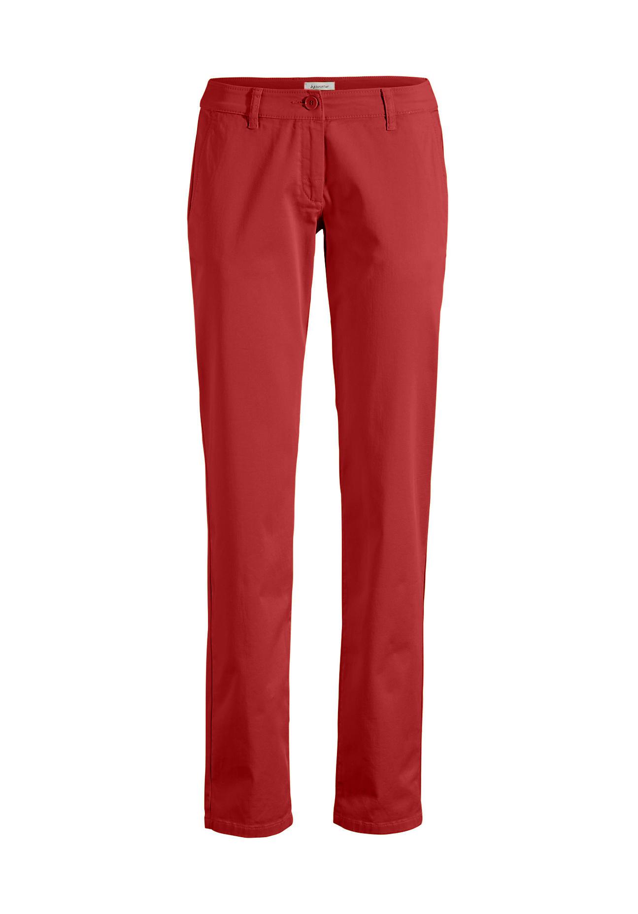 Hosen für Frauen - hessnatur Damen Chino aus Bio Baumwolle – rot –  - Onlineshop Hessnatur