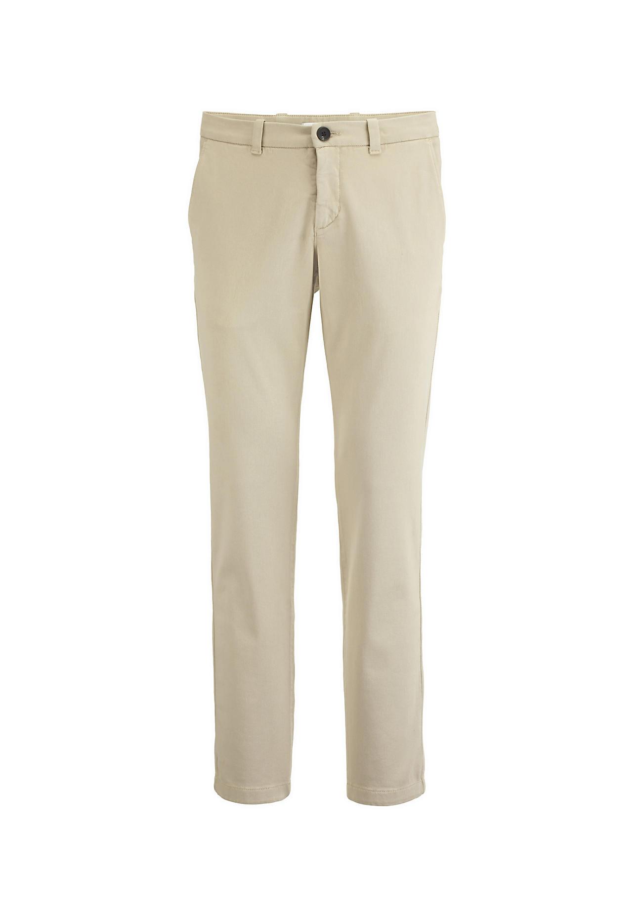hessnatur Herren Chino aus Bio-Baumwolle – beige – Größe 48