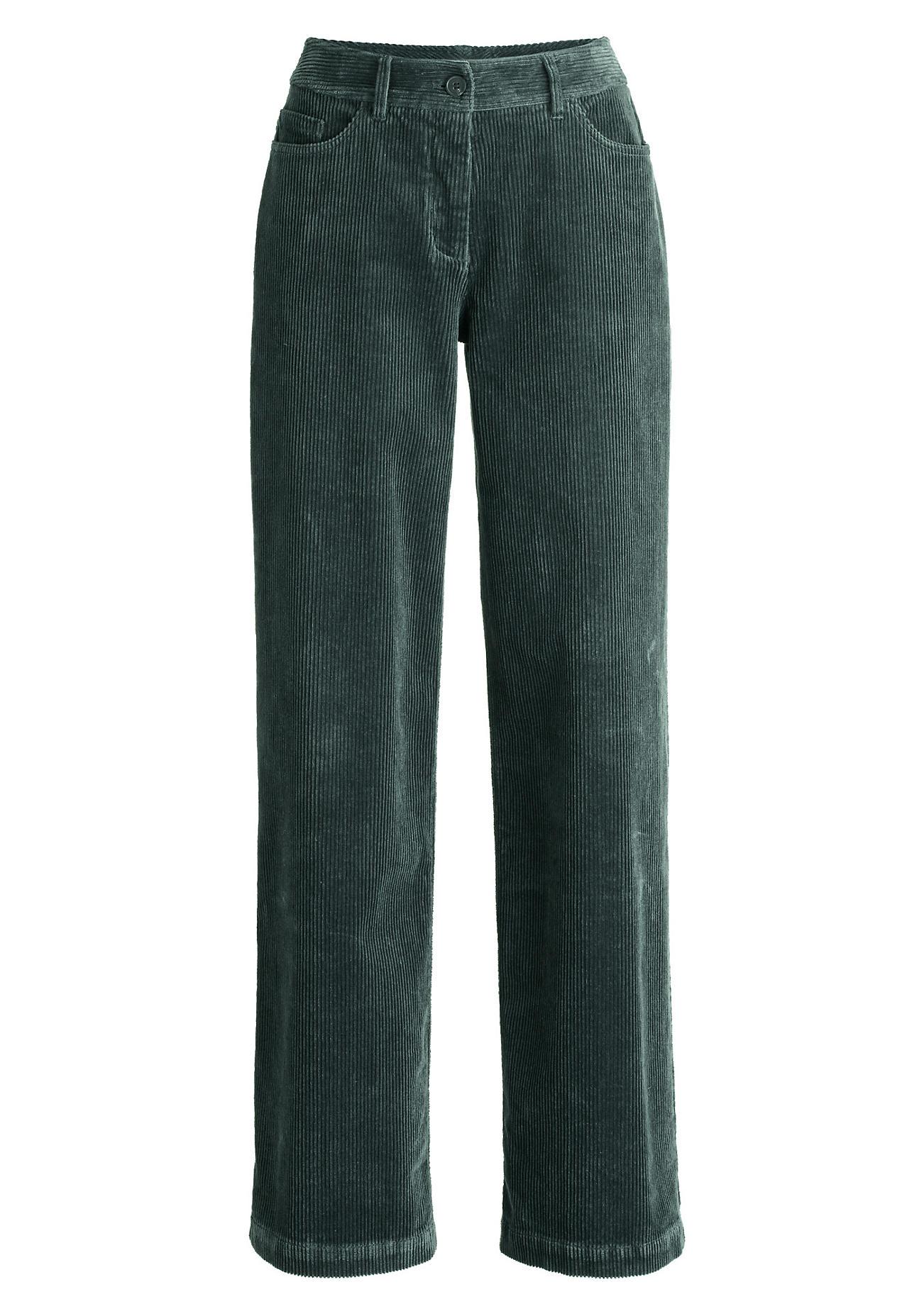 Hosen - hessnatur Damen Cord Hose aus Bio Baumwolle – grün –  - Onlineshop Hessnatur