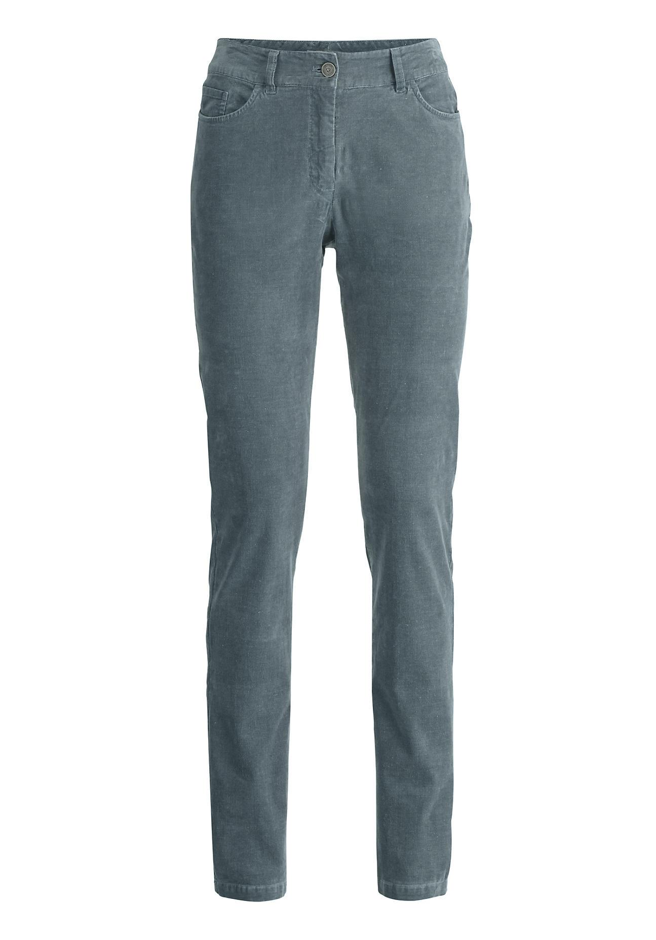 Hosen für Frauen - hessnatur Damen Cord Hose aus Bio Baumwolle mit Hanf – grün –  - Onlineshop Hessnatur
