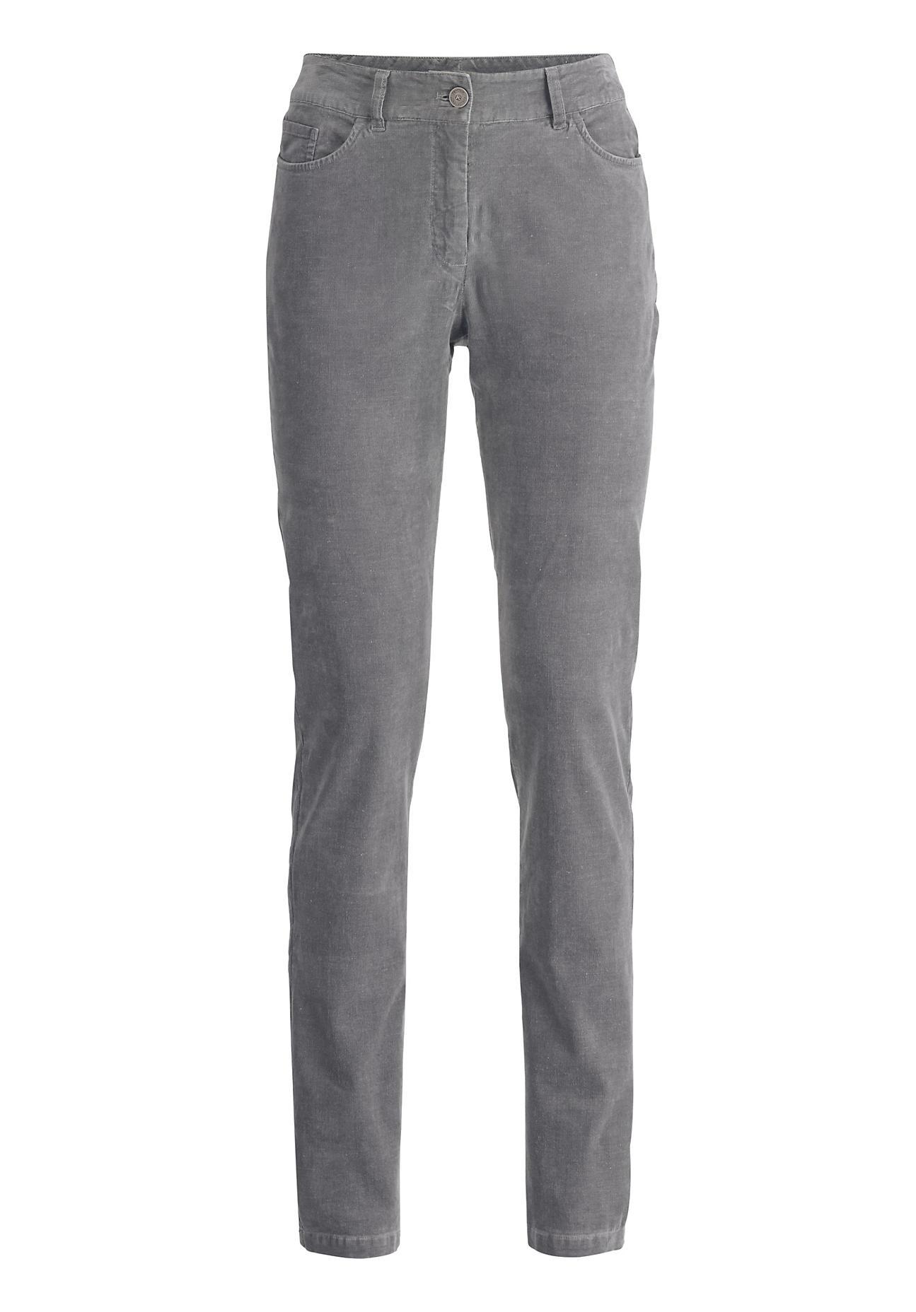 Hosen für Frauen - hessnatur Damen Cord Hose aus Bio Baumwolle mit Hanf – grau –  - Onlineshop Hessnatur