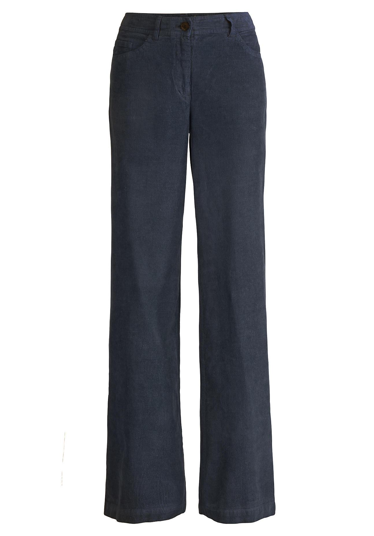 Hosen für Frauen - hessnatur Damen Cord Hose aus Hanf mit Bio Baumwolle – blau –  - Onlineshop Hessnatur