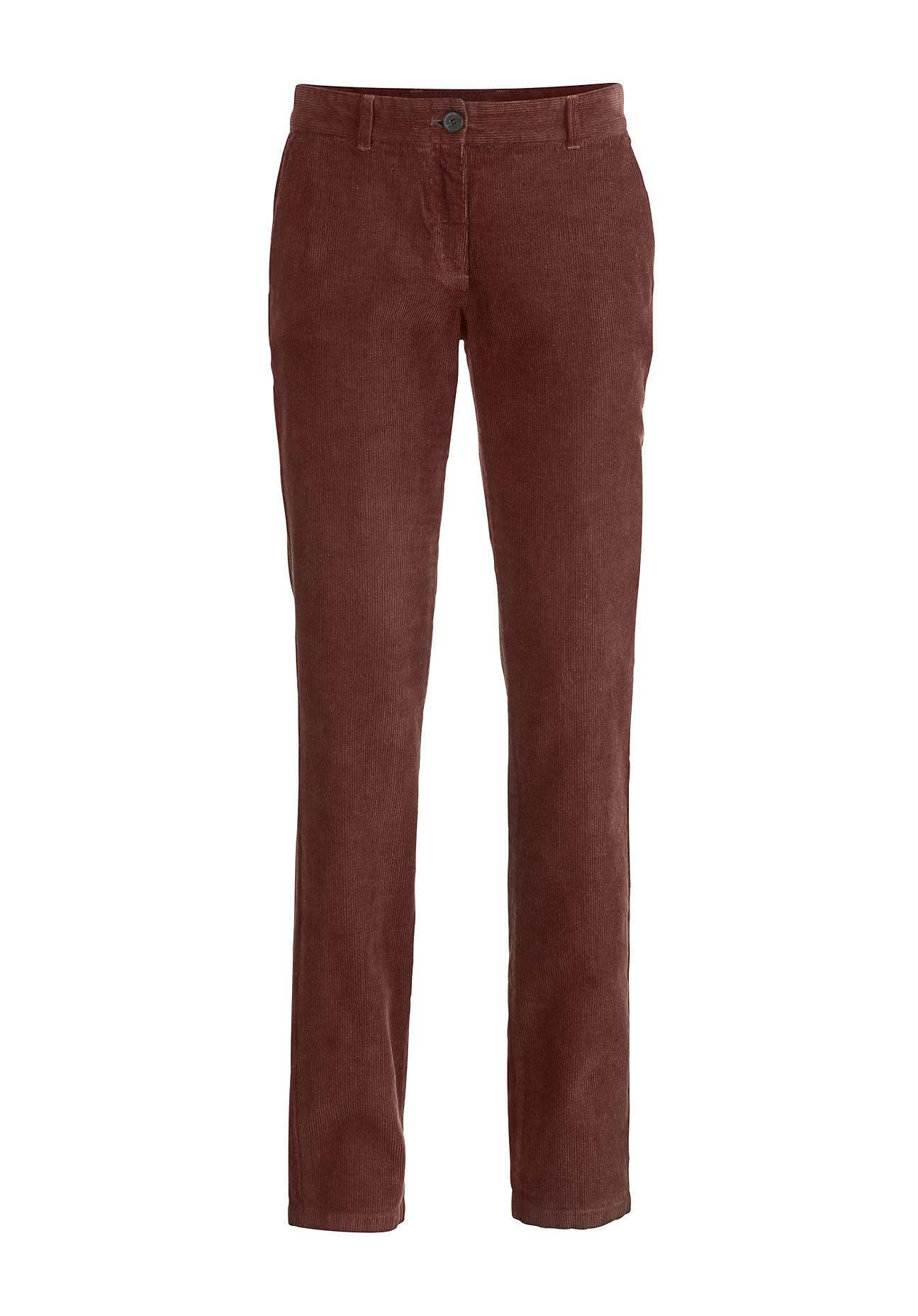 Hosen für Frauen - hessnatur Damen Cord Hose aus Hanf mit Bio Baumwolle – rot –  - Onlineshop Hessnatur