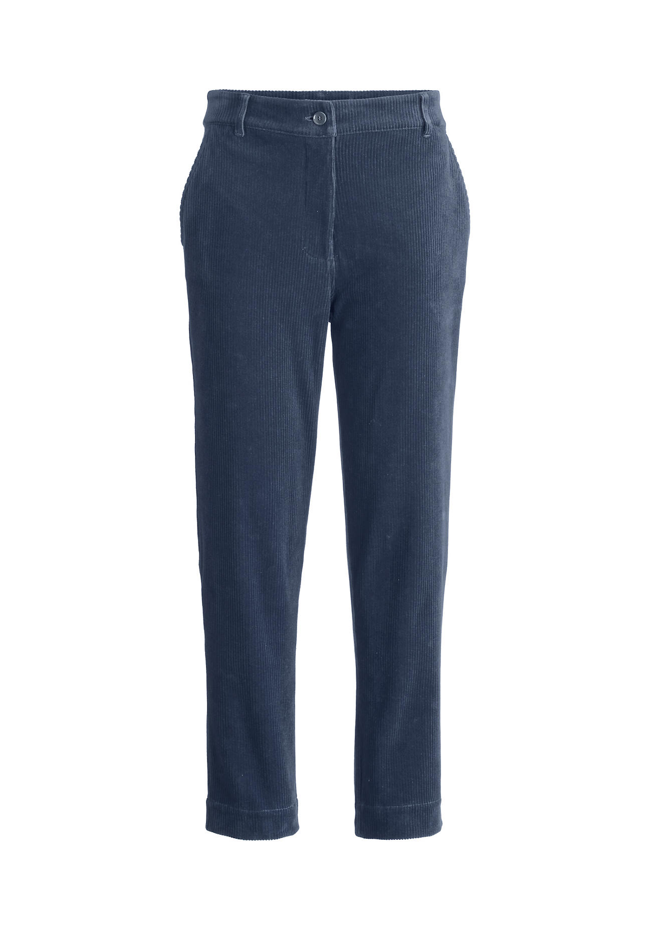 Hosen - hessnatur Damen Cord Hose aus Bio Baumwolle – blau –  - Onlineshop Hessnatur