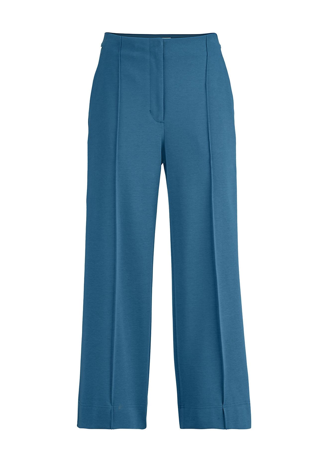 Hosen - hessnatur Damen Culotte aus Bio Baumwolle – blau –  - Onlineshop Hessnatur