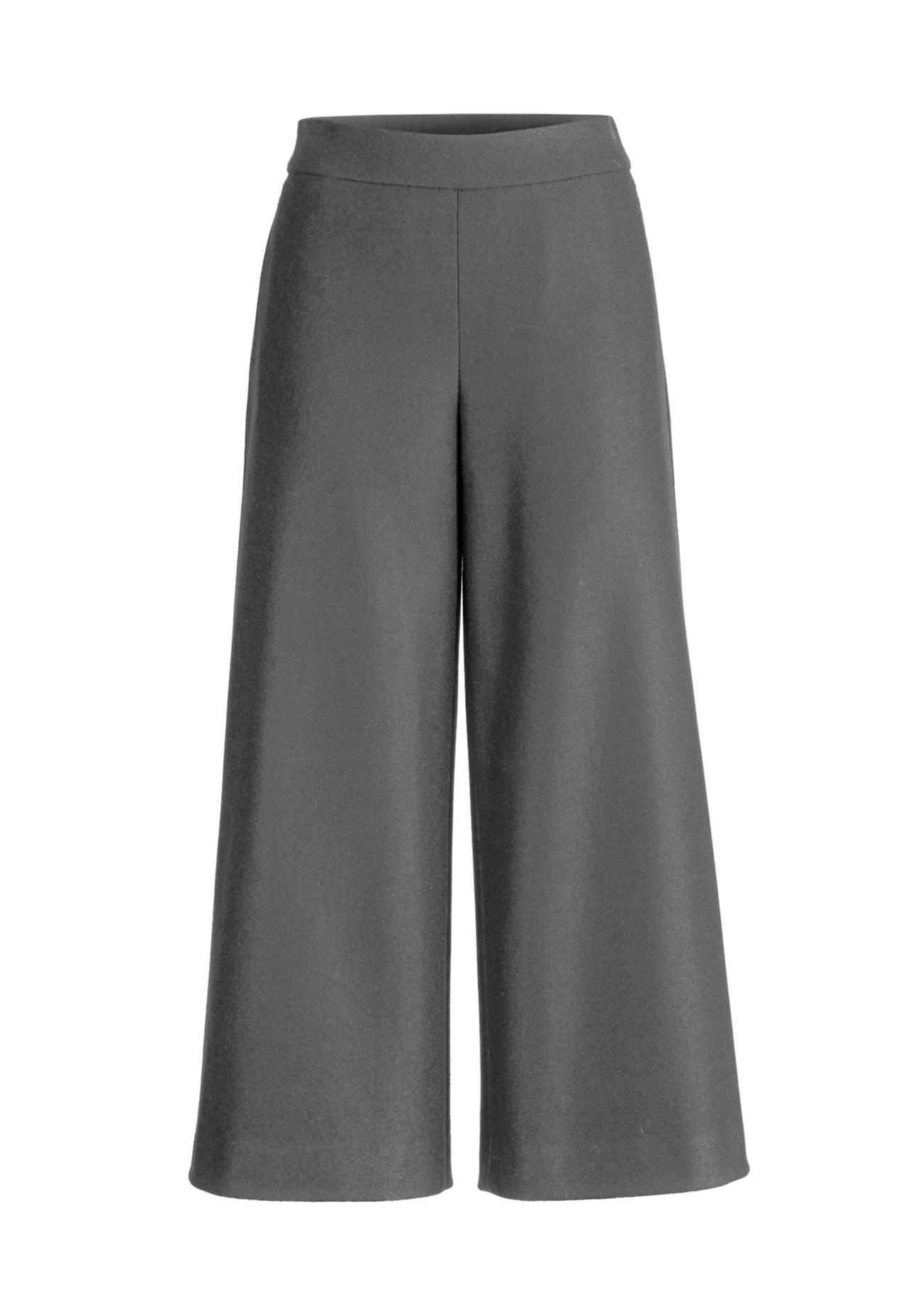 Hosen für Frauen - hessnatur Damen Culotte aus Schurwolle – grau –  - Onlineshop Hessnatur