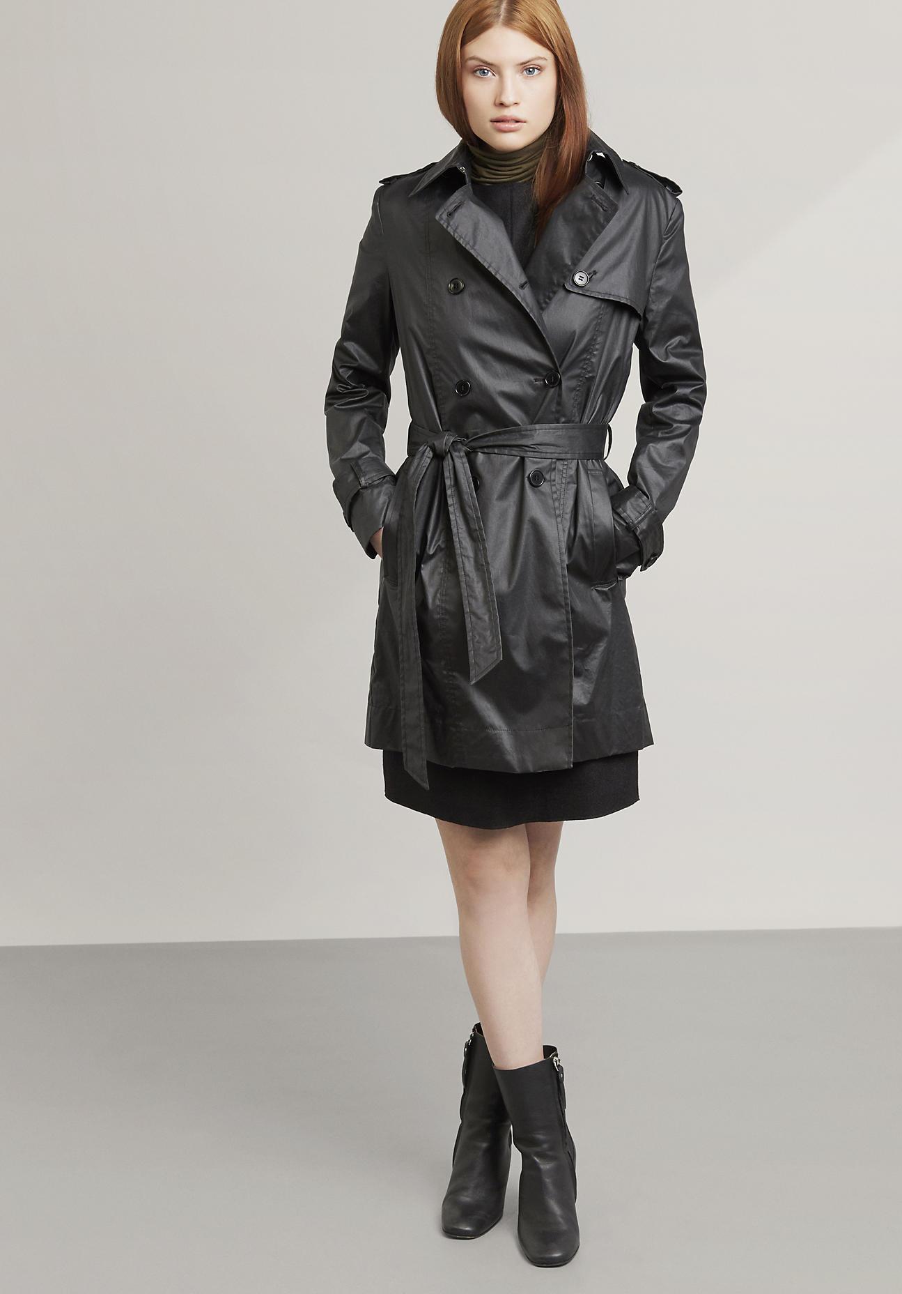 hessnatur Outdoor DamenTrenchcoat – schwarz – Größe 36 | Bekleidung > Mäntel > Trenchcoats