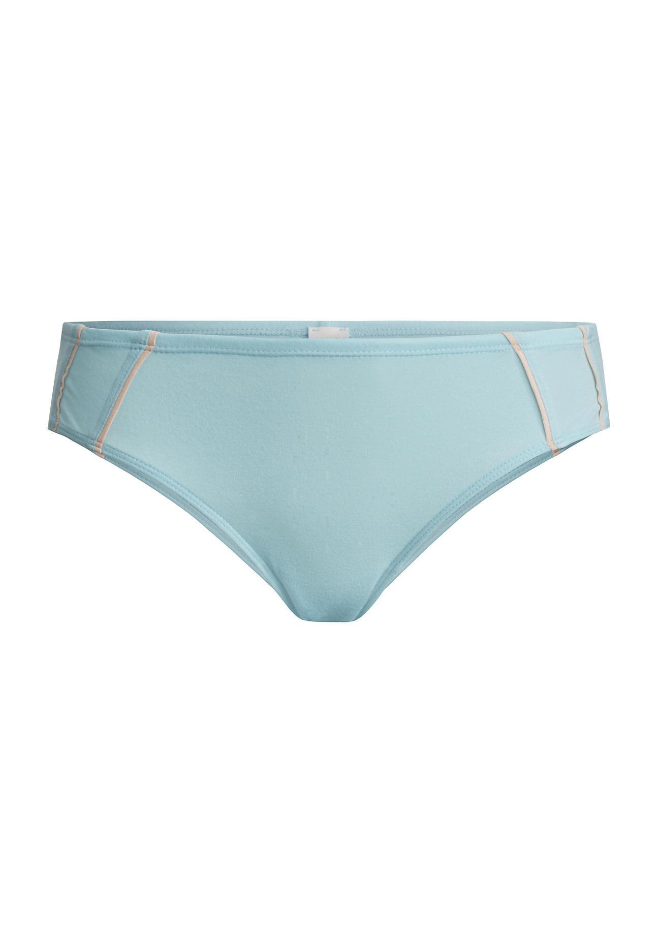 Waesche für Frauen - hessnatur Damen Damen Brazil Slip aus Bio Baumwolle und Modal – blau – Größe 38  - Onlineshop Hessnatur