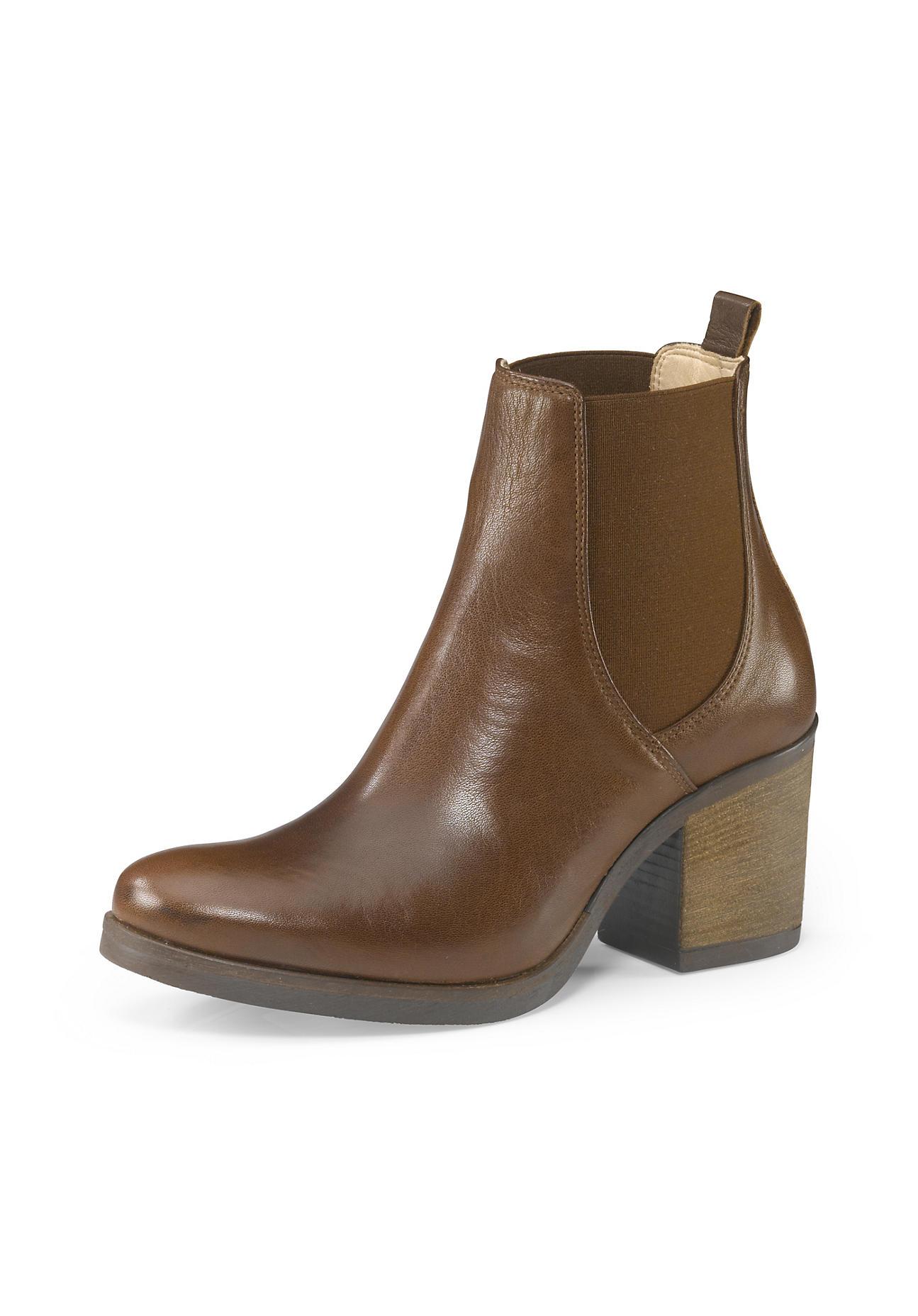 Stiefel - hessnatur Damen Damen Chelsea Boots aus Leder – braun –  - Onlineshop Hessnatur