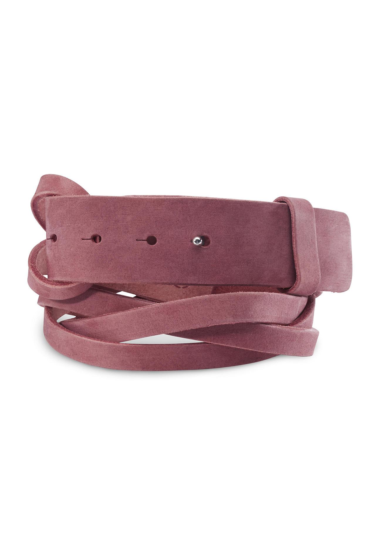 Guertel für Frauen - hessnatur Damen Damen Gürtel aus Leder – rosa –  - Onlineshop Hessnatur