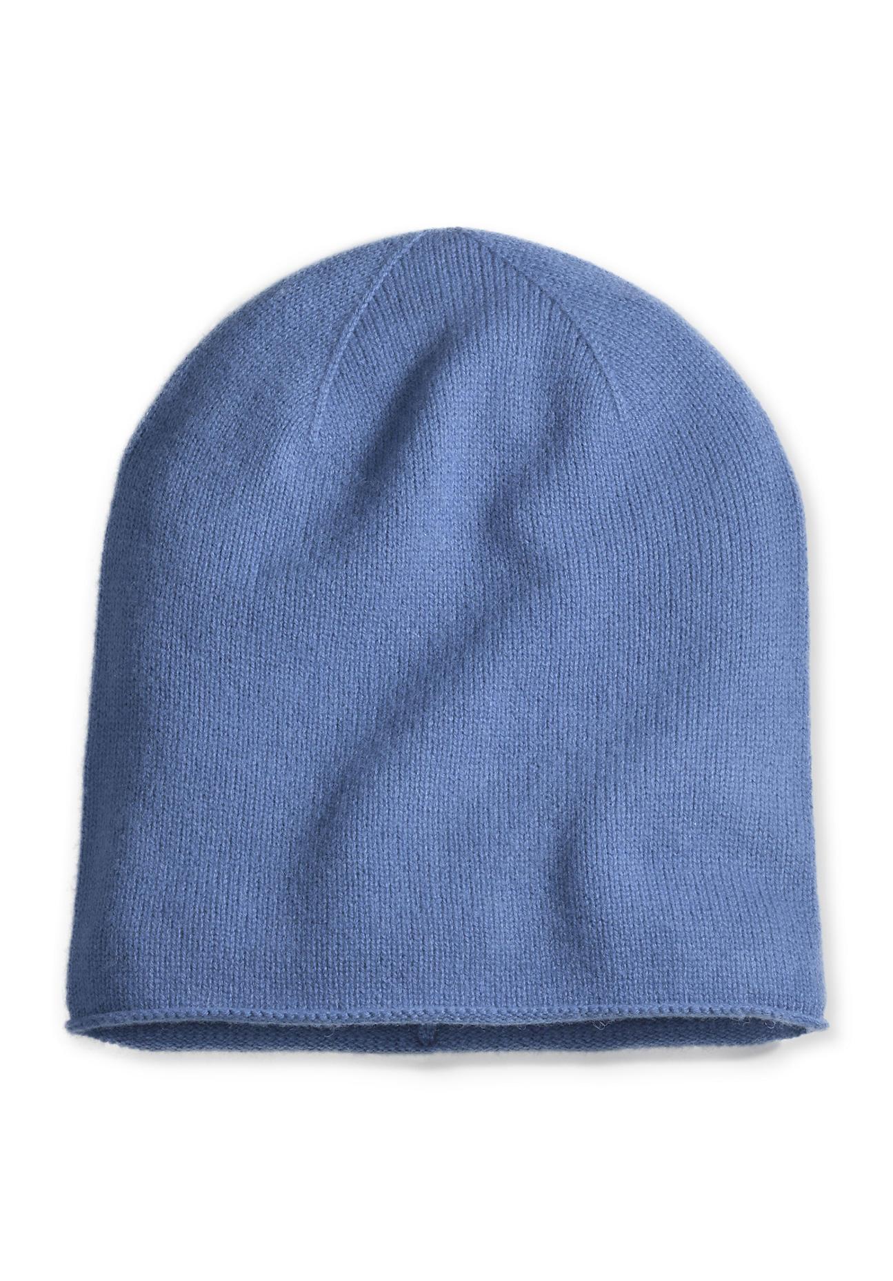 Muetzen für Frauen - hessnatur Damen Damen Mütze aus Schurwolle mit Kaschmir – blau –  - Onlineshop Hessnatur