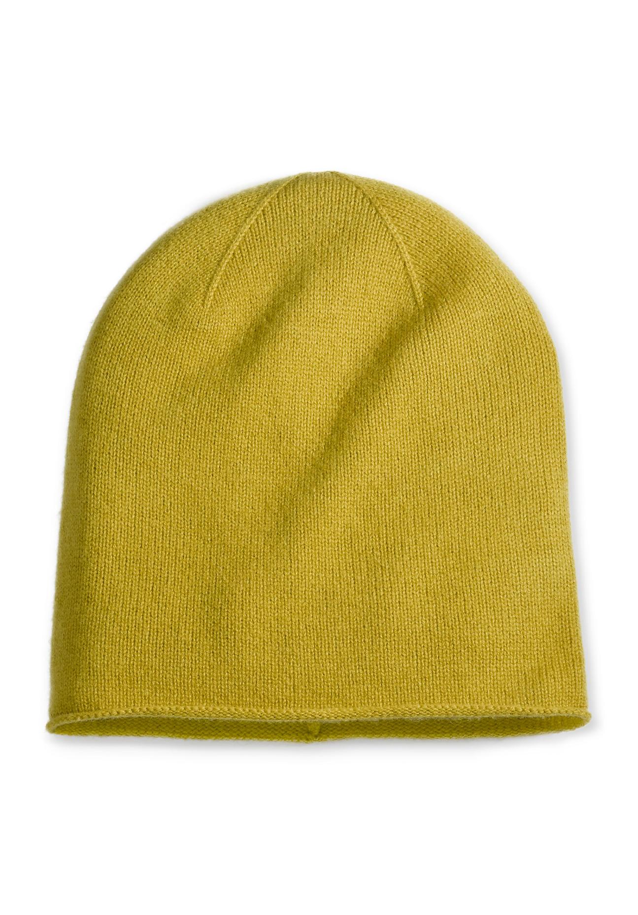 Muetzen für Frauen - hessnatur Damen Damen Mütze aus Schurwolle mit Kaschmir – grün –  - Onlineshop Hessnatur