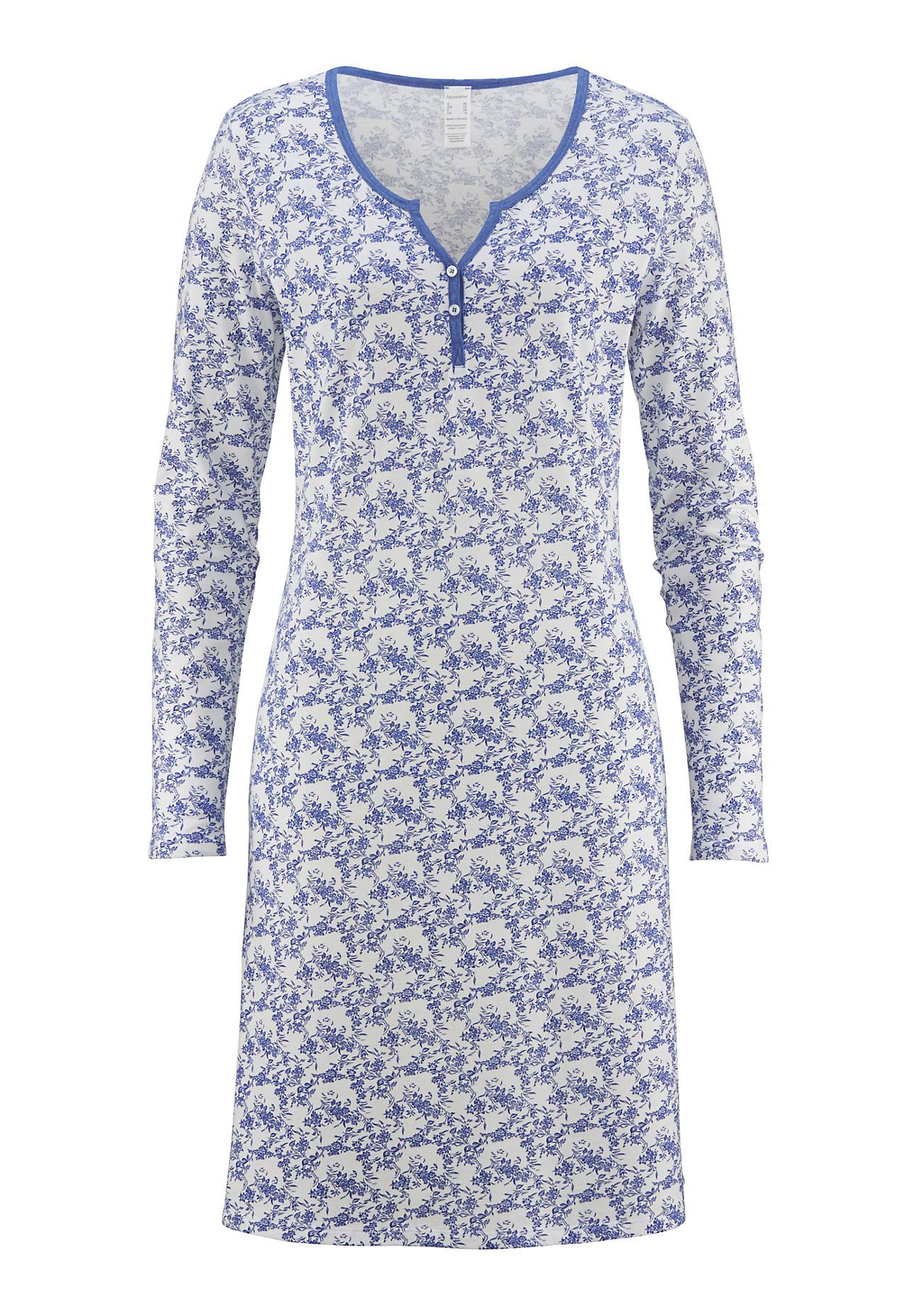 hessnatur Damen Damen Nachthemd aus Bio Baumwolle – bunt – Größe 38