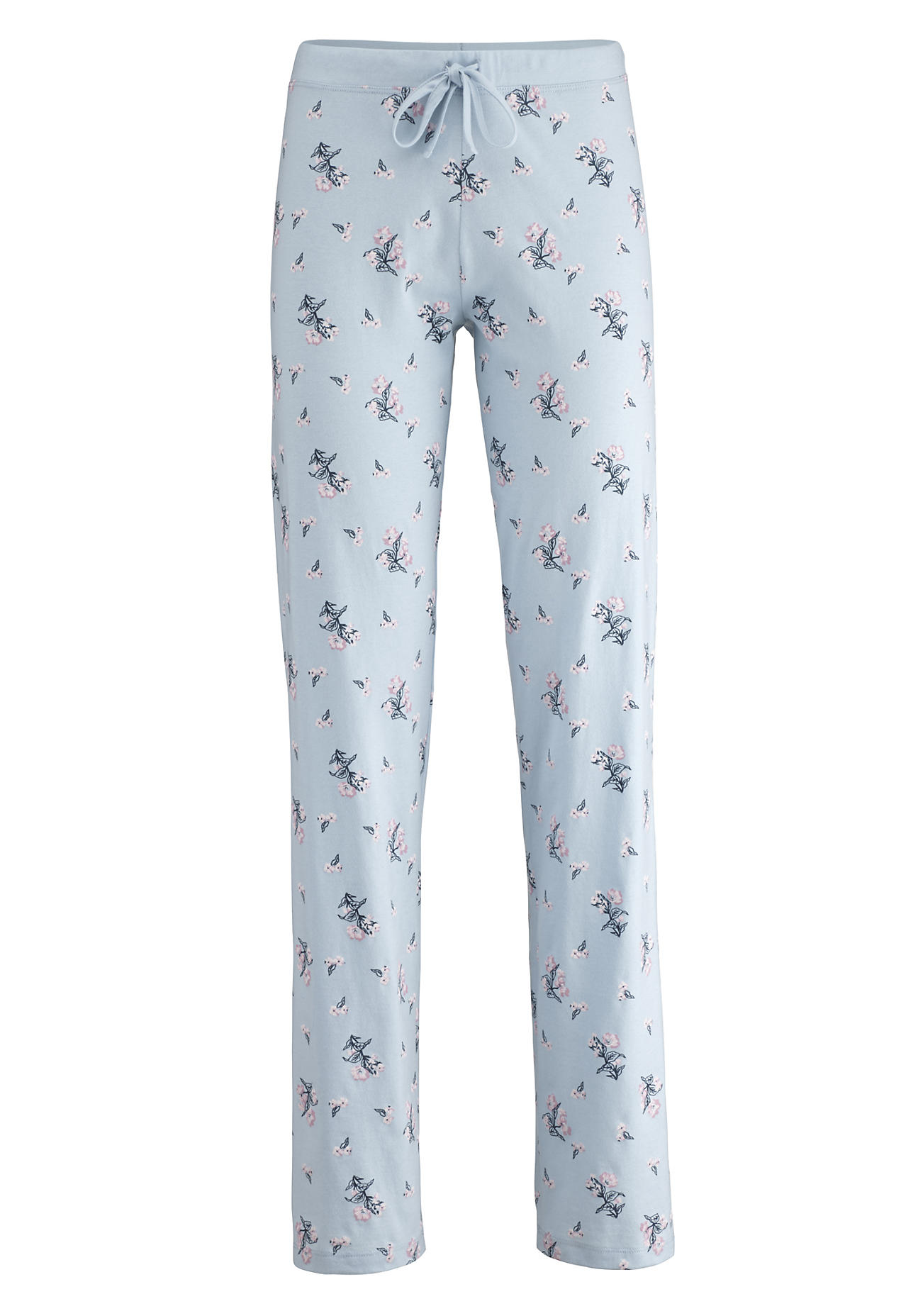 hessnatur Damen Damen Pyjamahose aus Bio-Baumwolle – blau – Größe 48