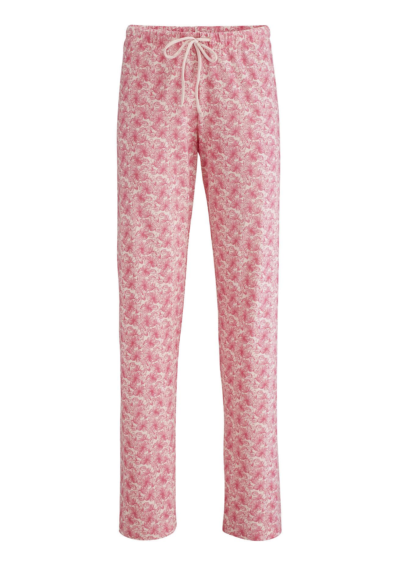 hessnatur Damen Damen Pyjamahose aus Bio-Baumwolle – rosa – Größe 48