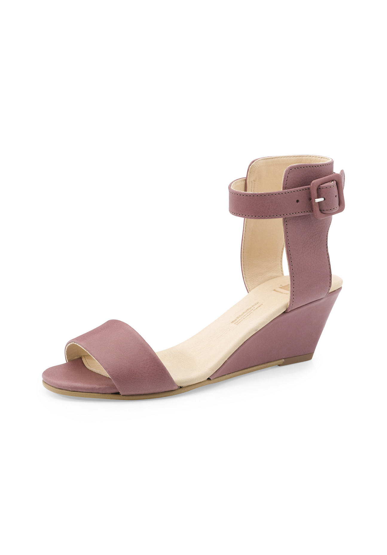 hessnatur Damen Damen Sandalette aus Leder – rosa – Größe 41