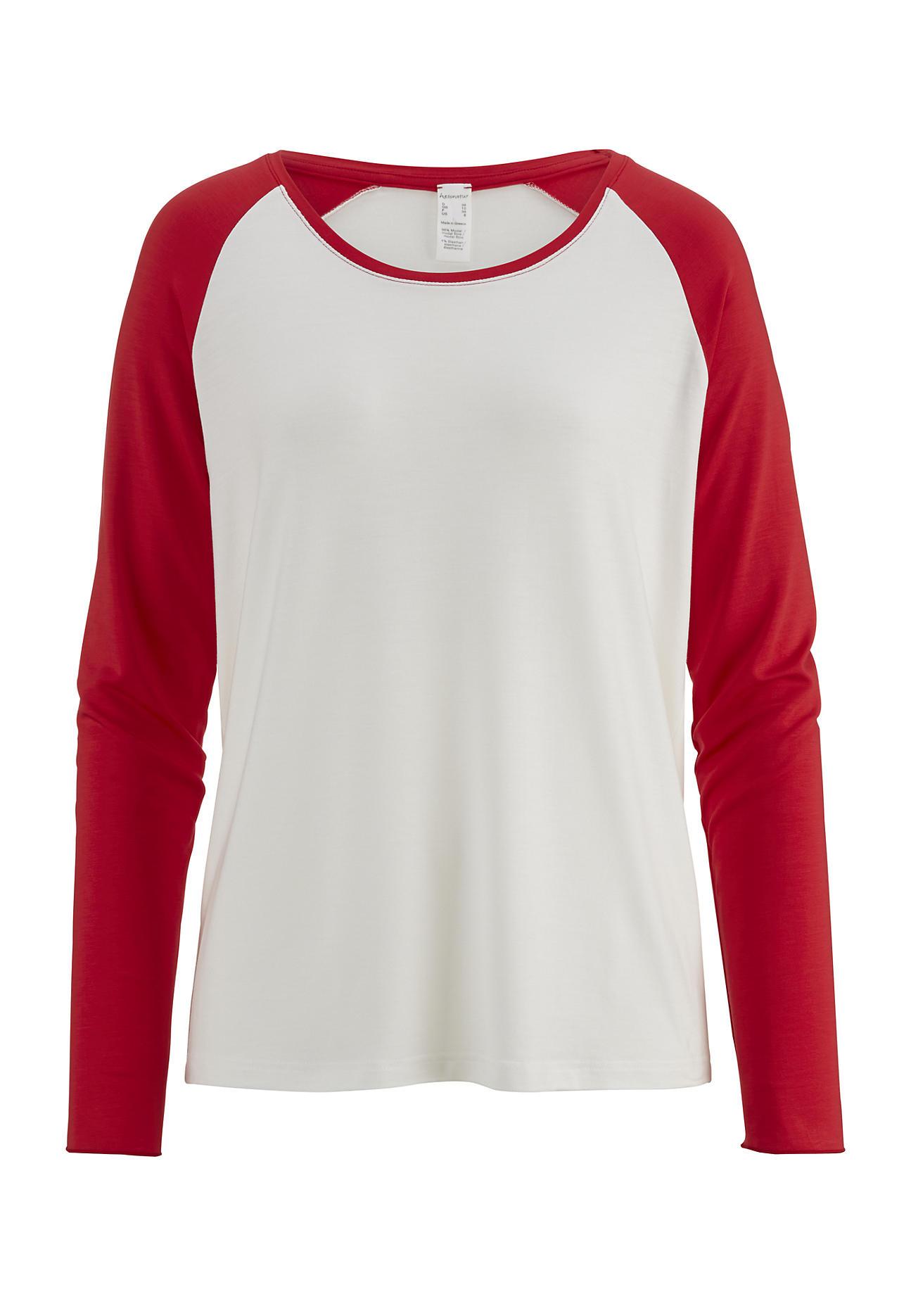 Waesche für Frauen - hessnatur Damen Damen Shirt aus Modal – rot – Größe 38  - Onlineshop Hessnatur