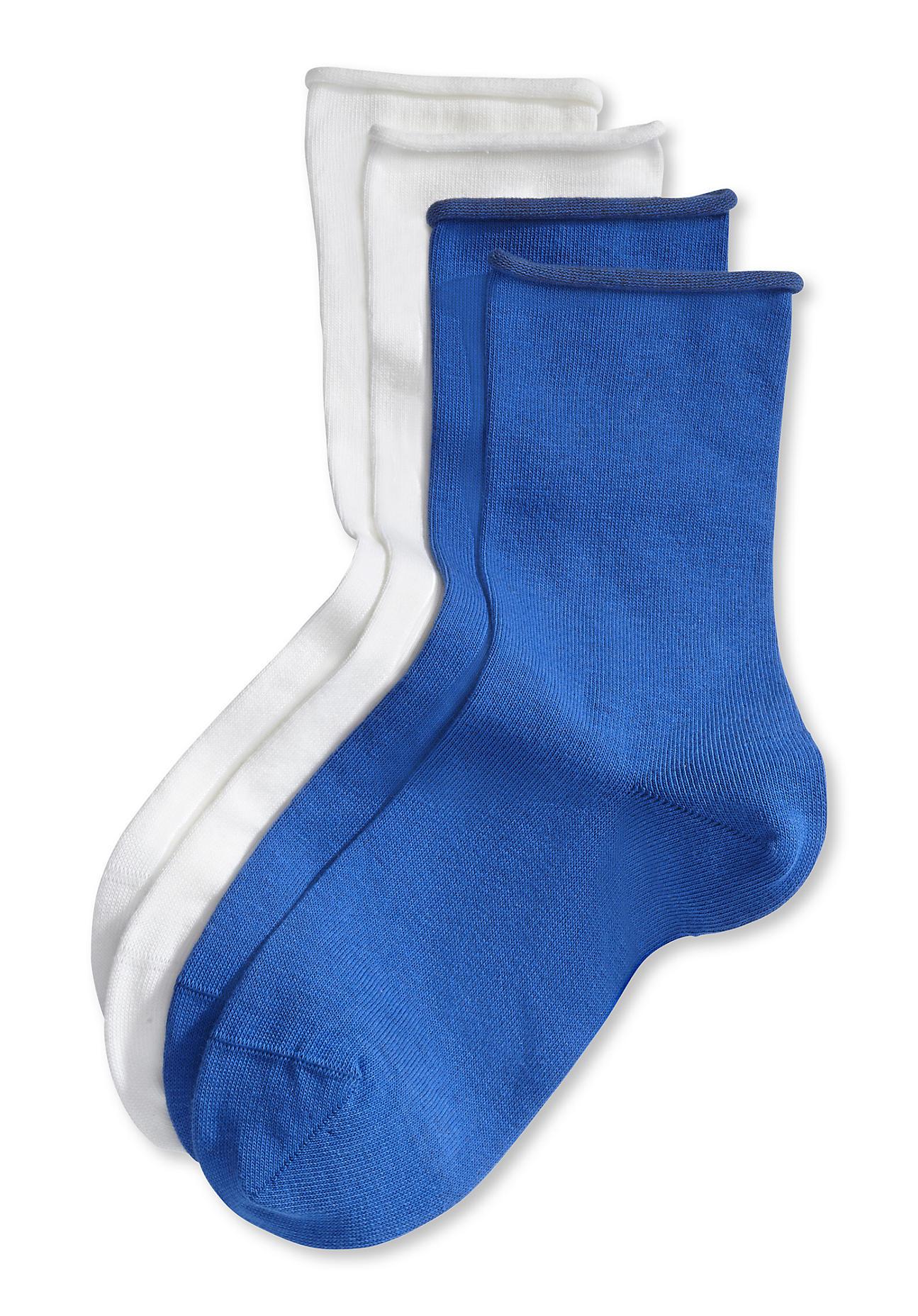 hessnatur Damen Socke im 2er Pack aus Bio Baumwolle – blau – Größe 38 39