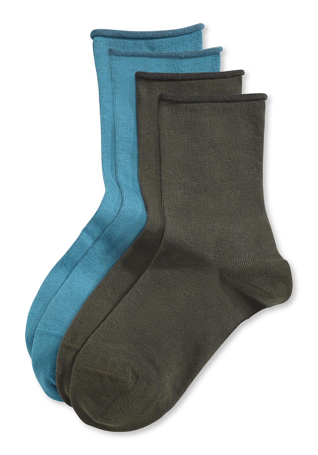 hessnatur Damen Socke im 2er Pack aus Bio Baumwolle – grün – Größe 38 39