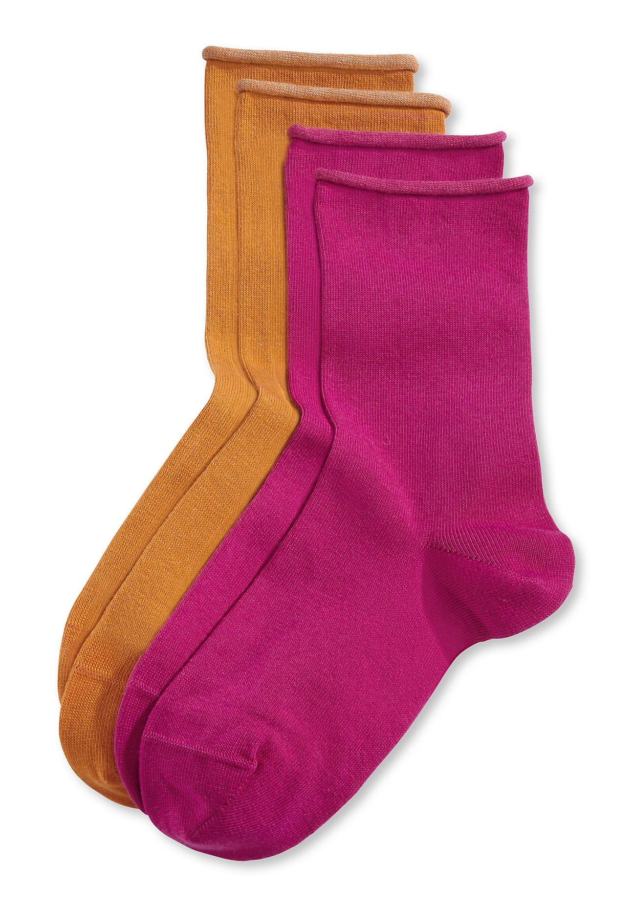 hessnatur Damen Socke im 2er Pack aus Bio Baumwolle – lila – Größe 38 39