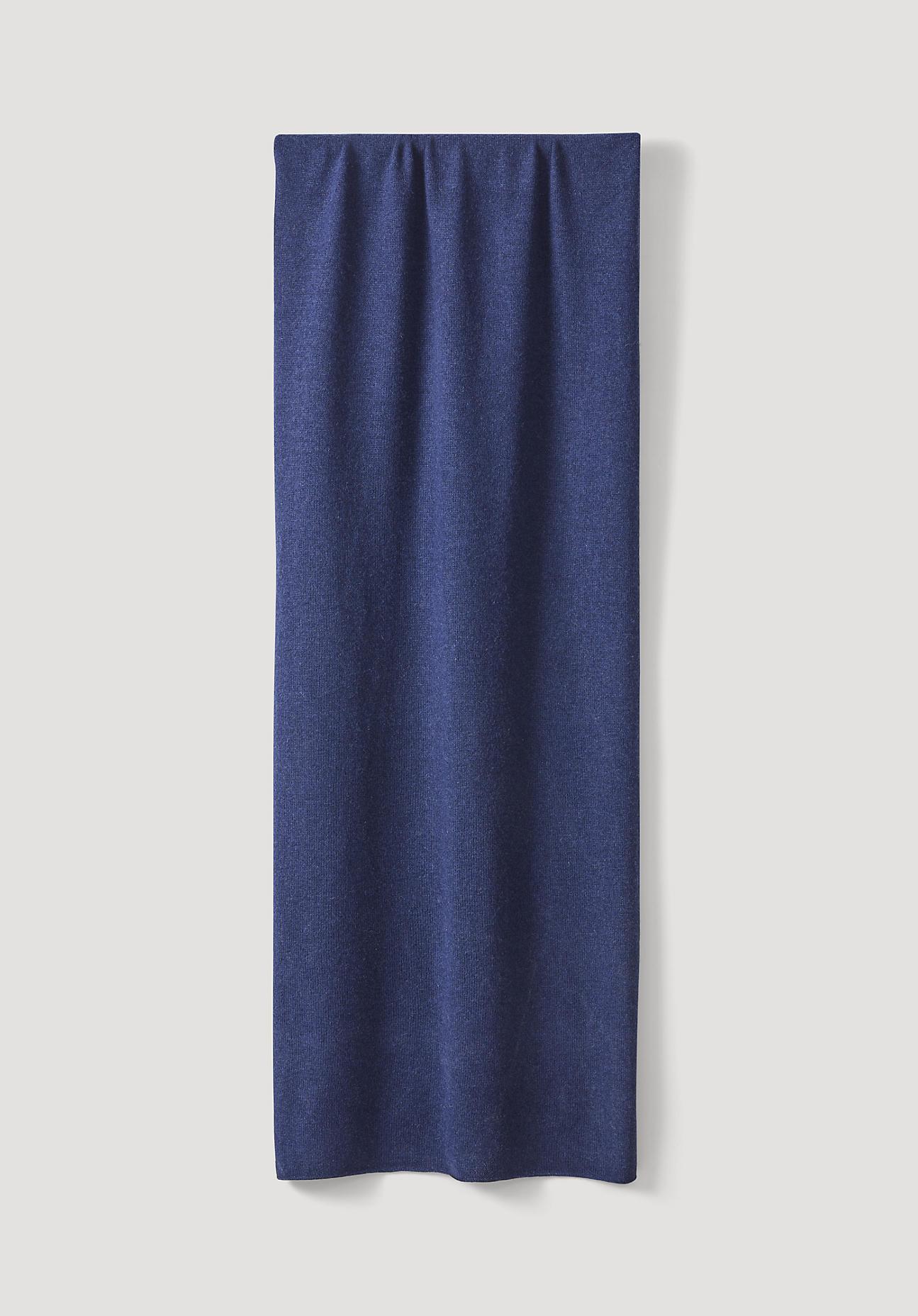 Schals für Frauen - hessnatur Damen Damen Strickschal aus Schurwolle mit Kaschmir – blau –  - Onlineshop Hessnatur
