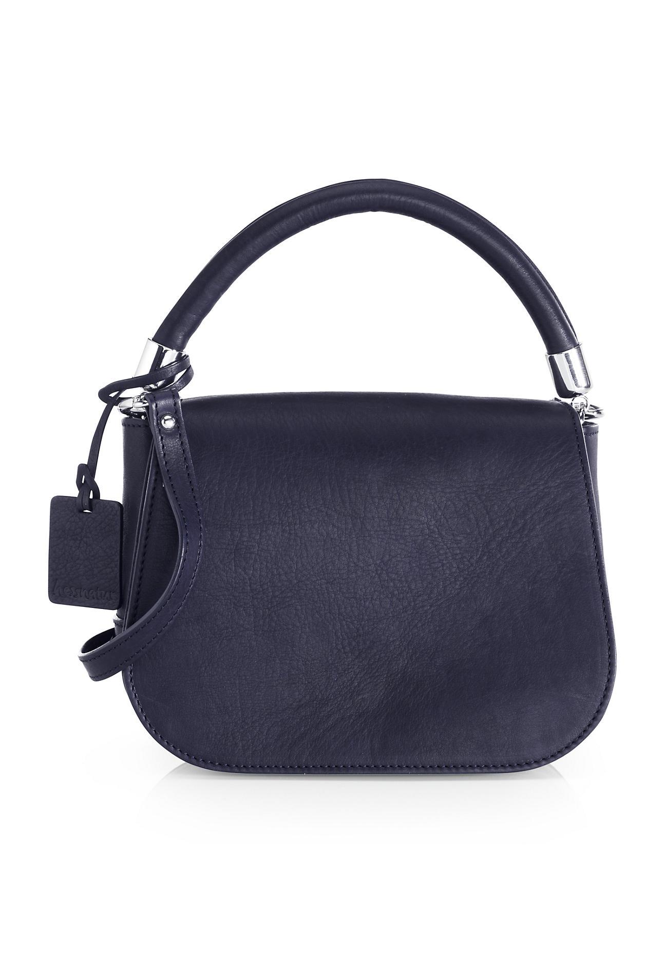 hessnatur Damen Damen Tasche aus Leder – blau –...