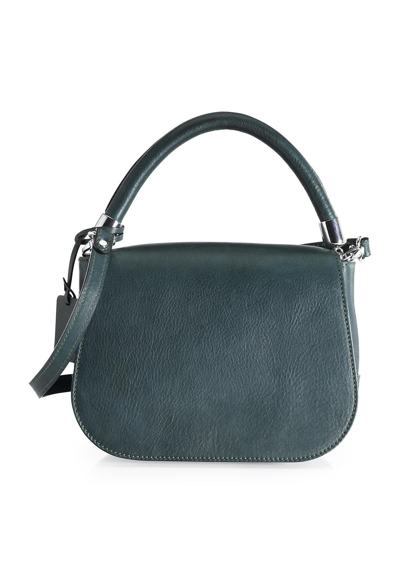 hessnatur Damen Damen Tasche aus Leder – grün –...