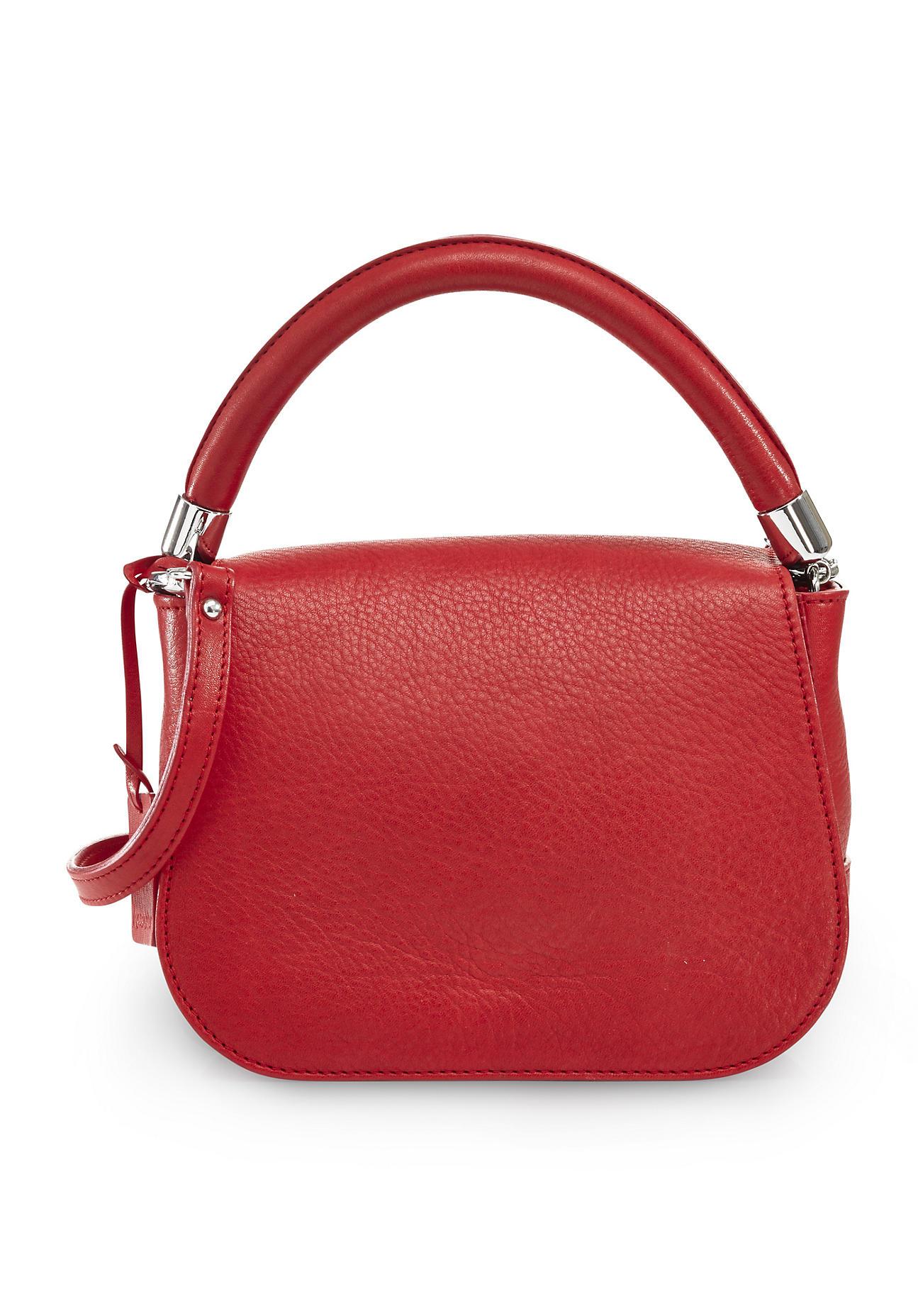 hessnatur Damen Damen Tasche aus Leder – rot – ...