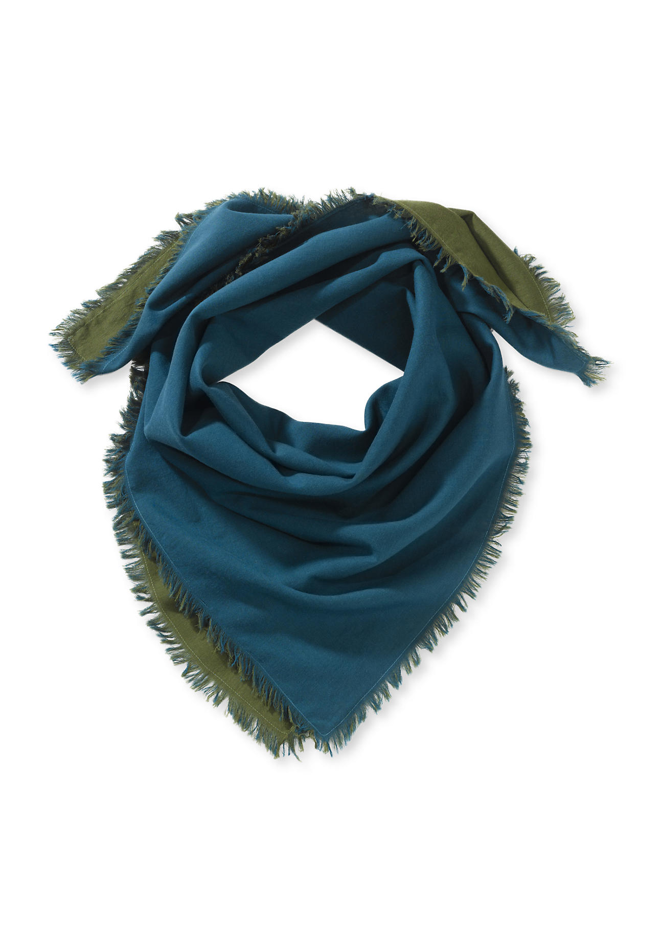 Schals für Frauen - hessnatur Damen Damen Tuch aus Bio Baumwolle – grün –  - Onlineshop Hessnatur