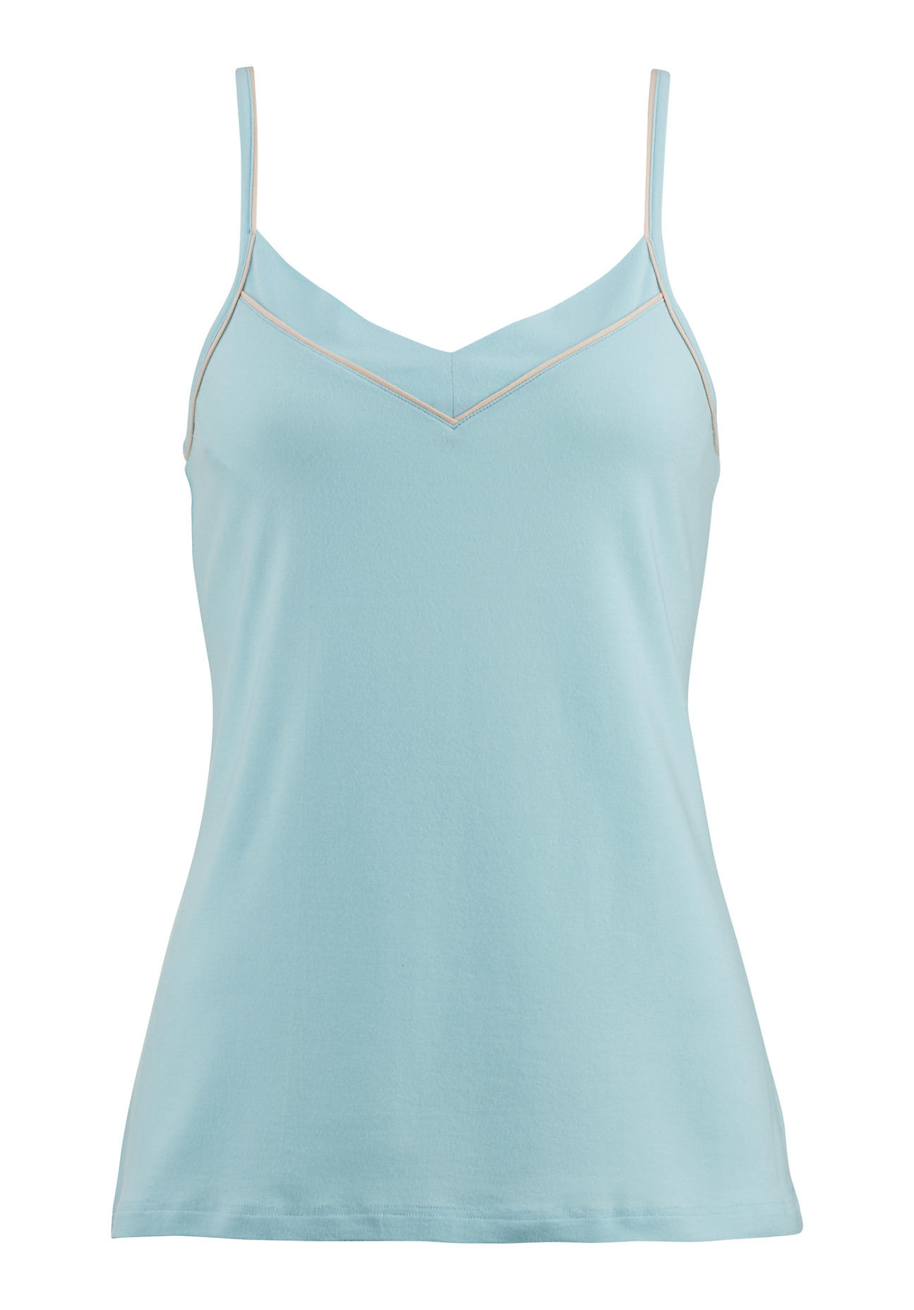 Waesche für Frauen - hessnatur Damen Damen Unterhemd aus Bio Baumwolle und Modal – blau – Größe 38  - Onlineshop Hessnatur